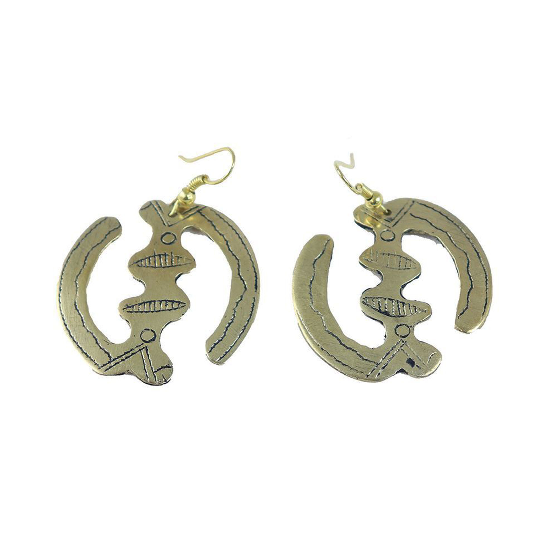 Picture of Tuareg Gold Gye Nyame Earrings