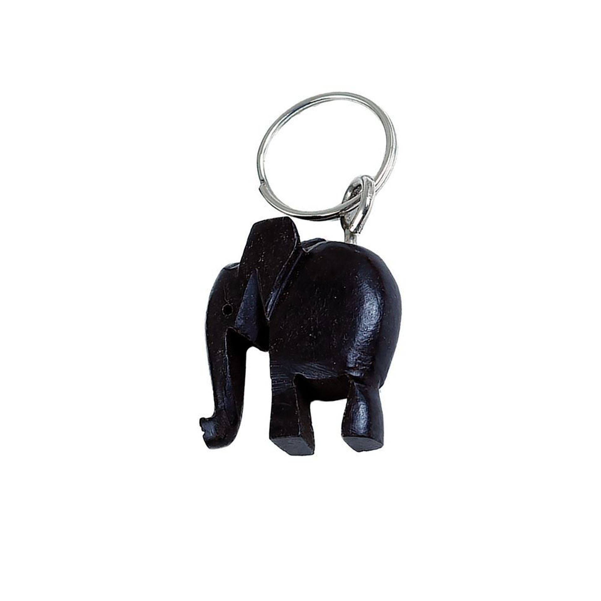 Picture of Wooden African Elephant Key Chain