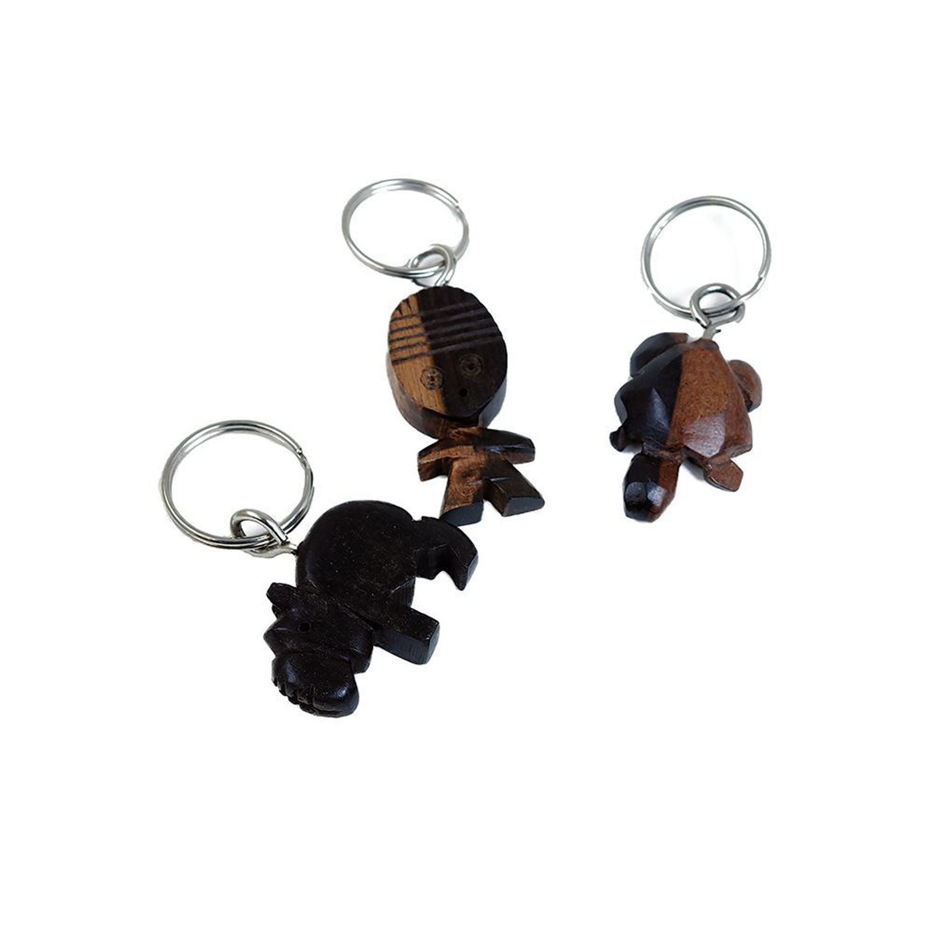 Picture of Wooden Animal & Mask Key Chain ASSORTED