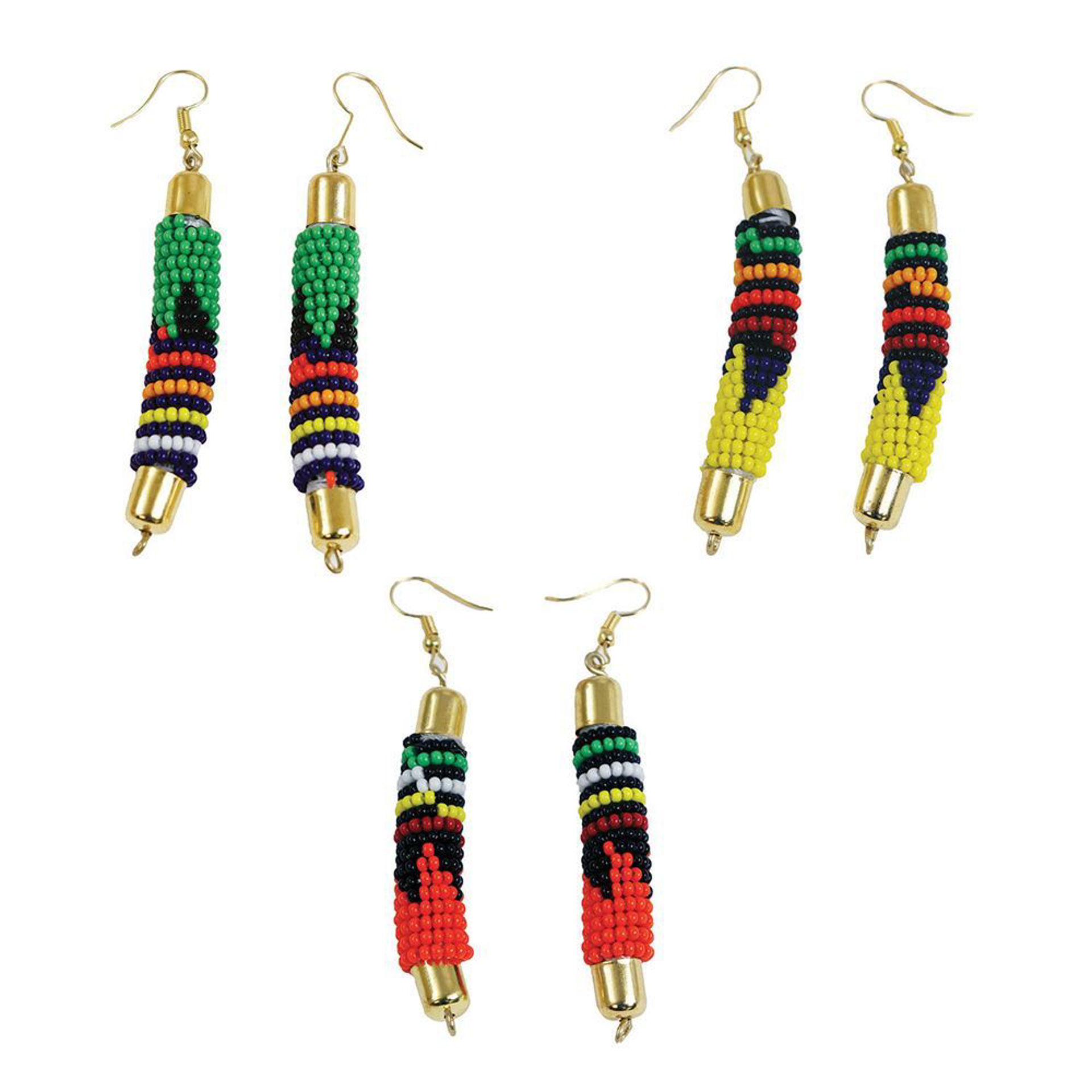 Picture of Maasai Bead Rod Earrings - ASSORTED