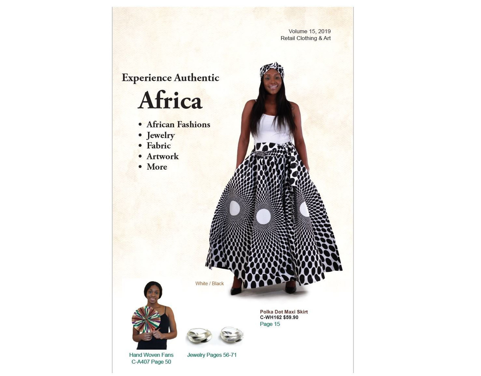 Picture of African Clothing & Artwork Catalog: 96pg