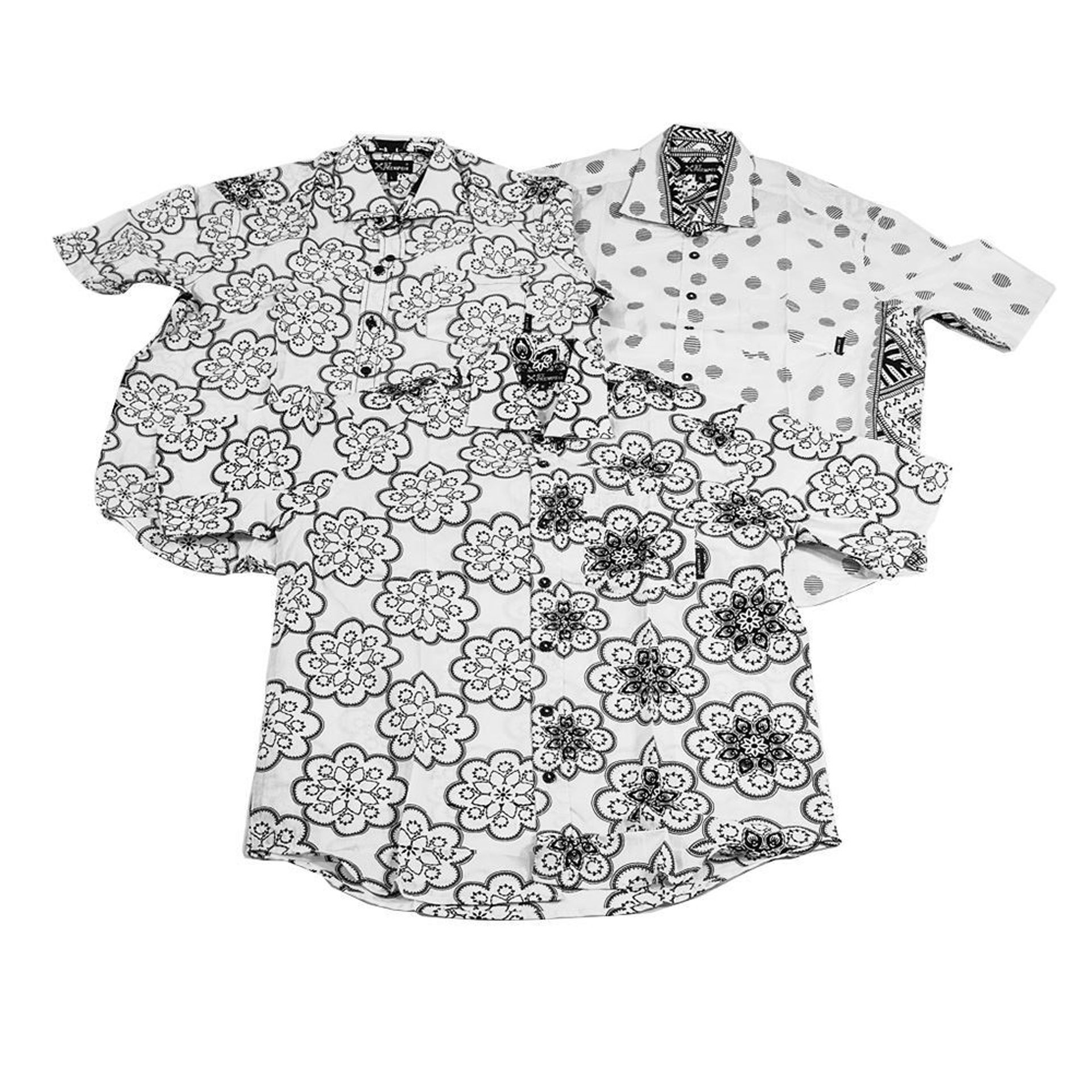 Picture of Set Of 3 Button-Down Shirts - ASSORTED