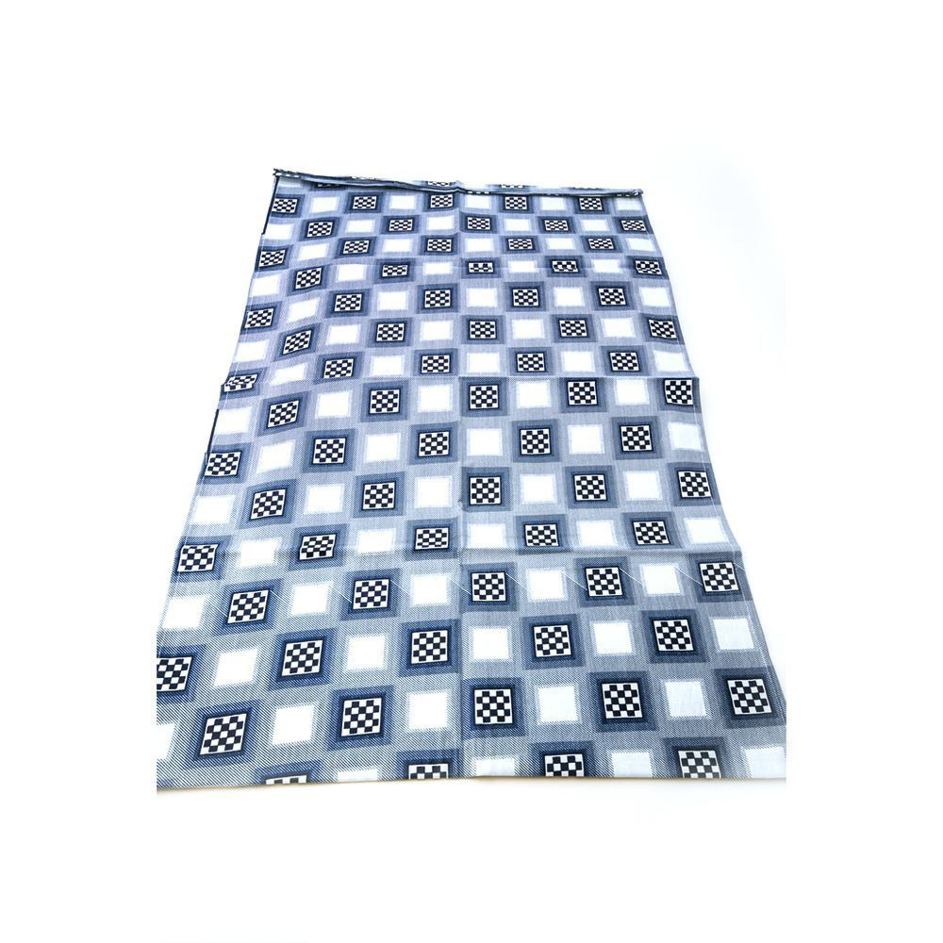 Picture of Blue Checkered Head Wrap