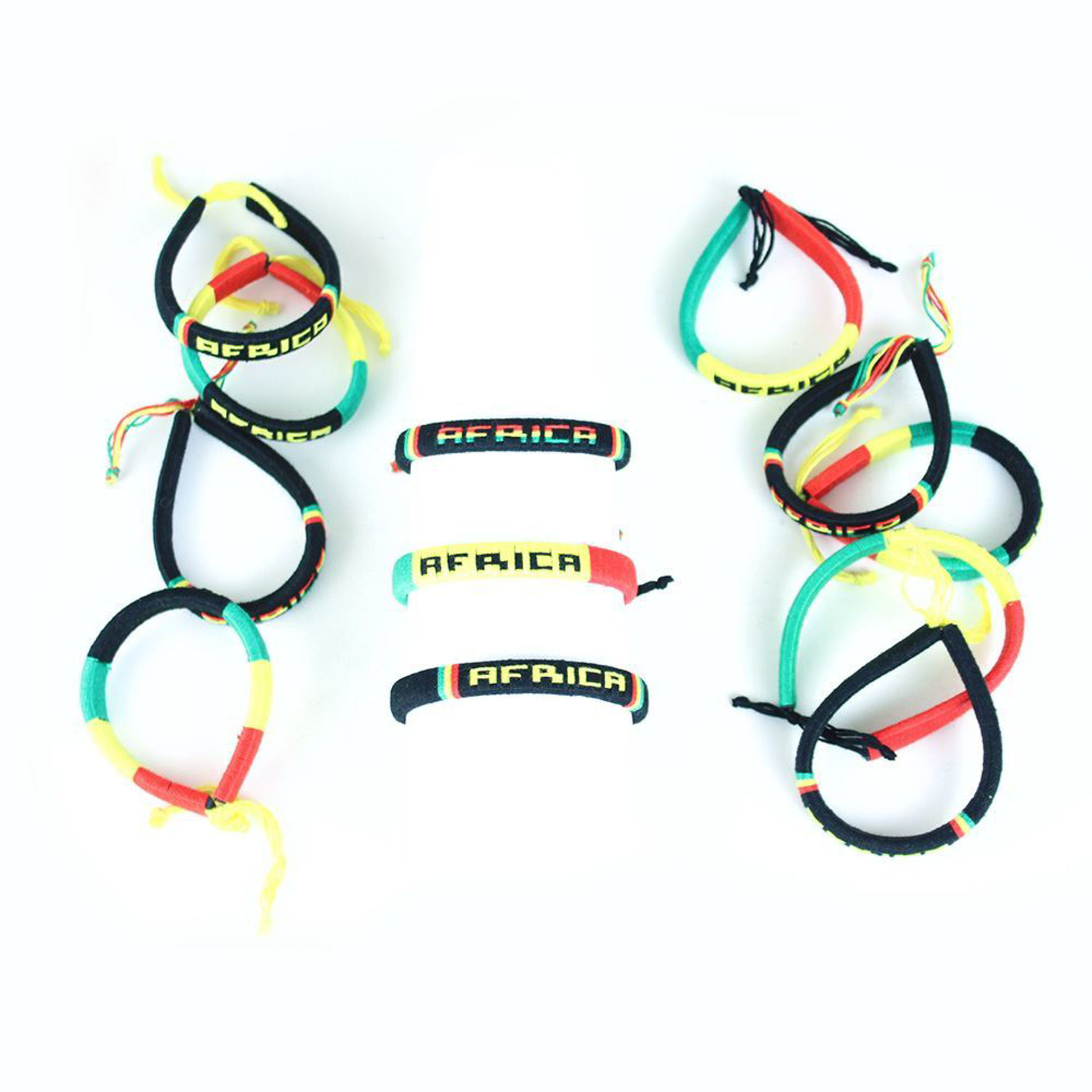 Picture of Set Of 12 Colors Of AFRICA Bracelets