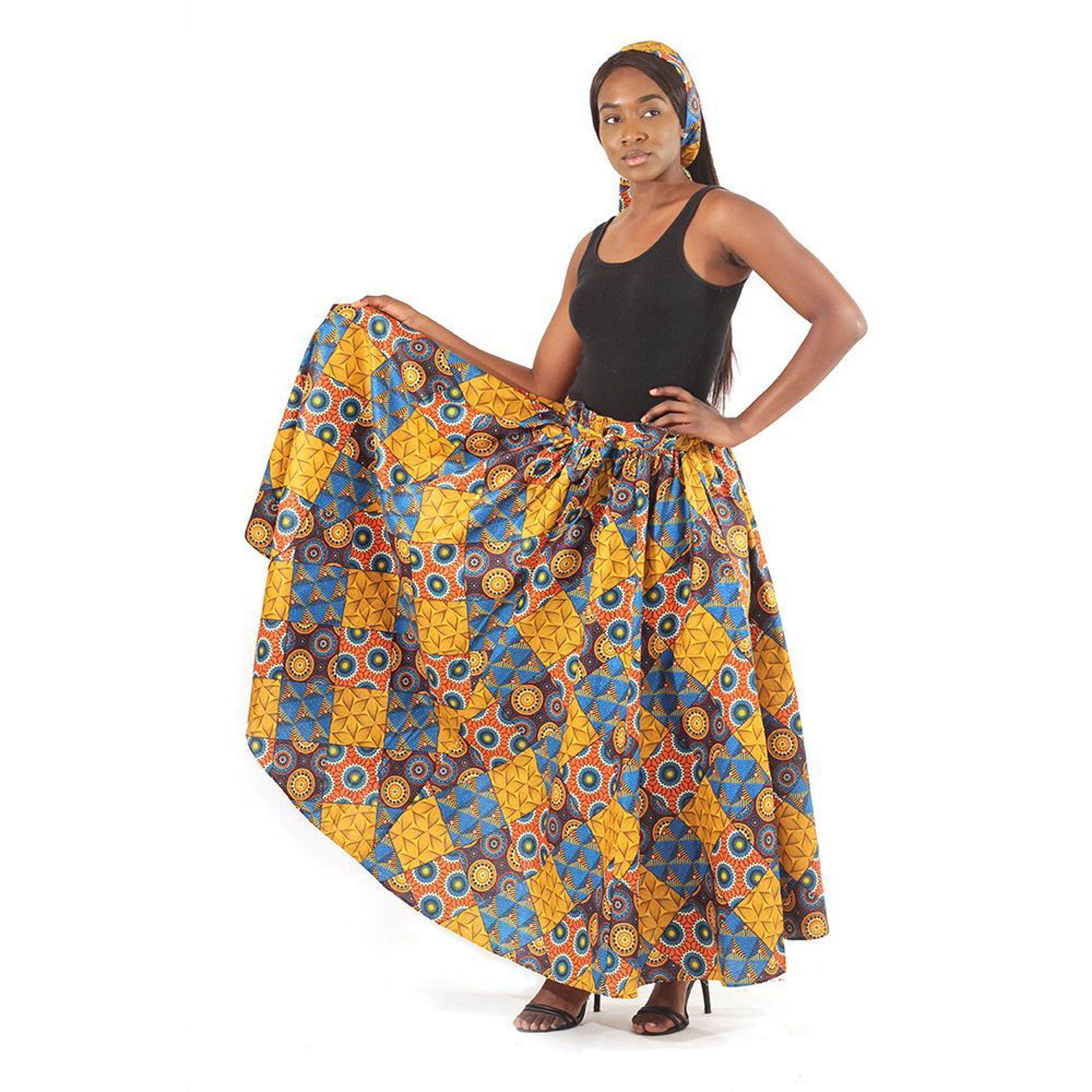 Picture of Floral Patchwork Long Skirt