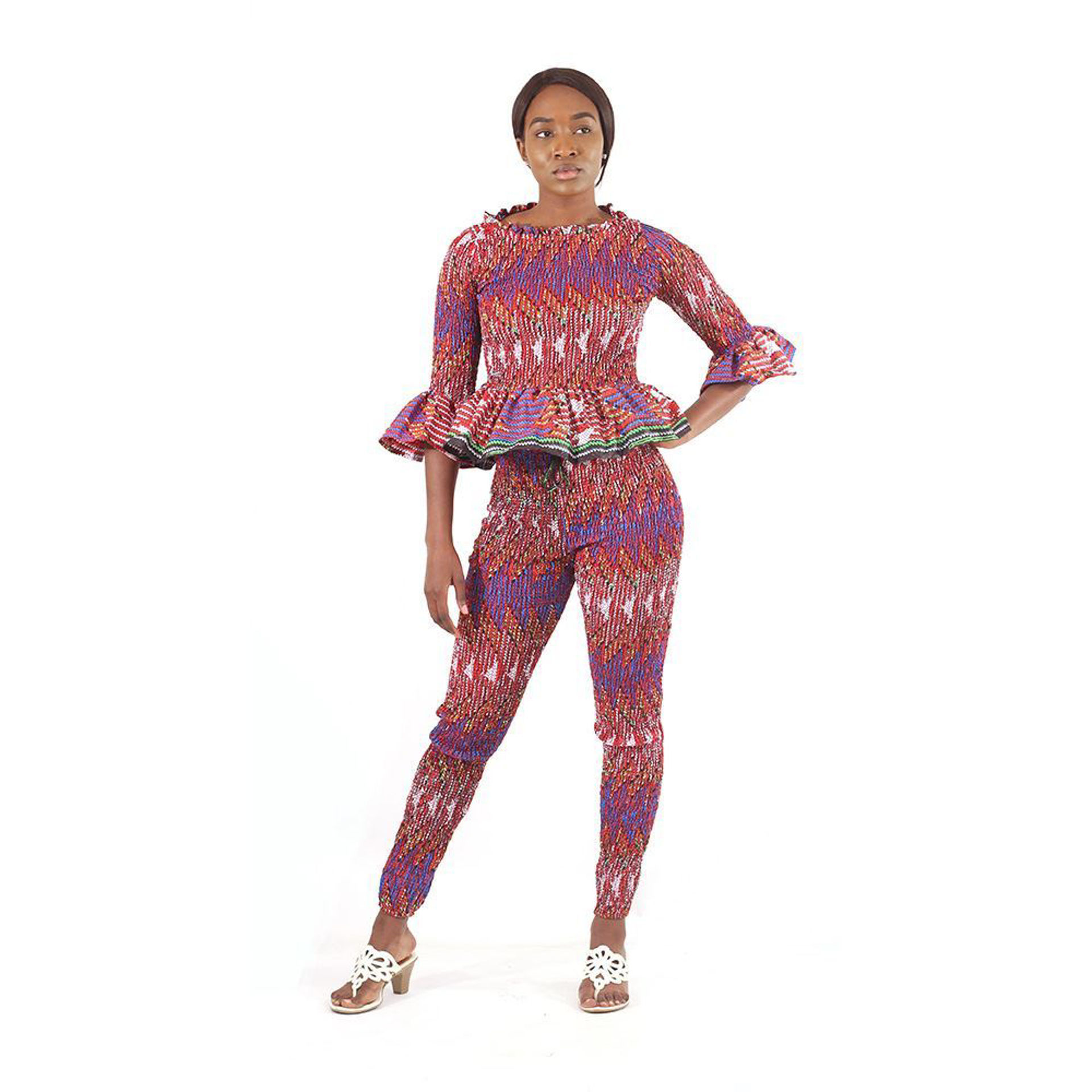 Picture of Red Interwoven Pant Set