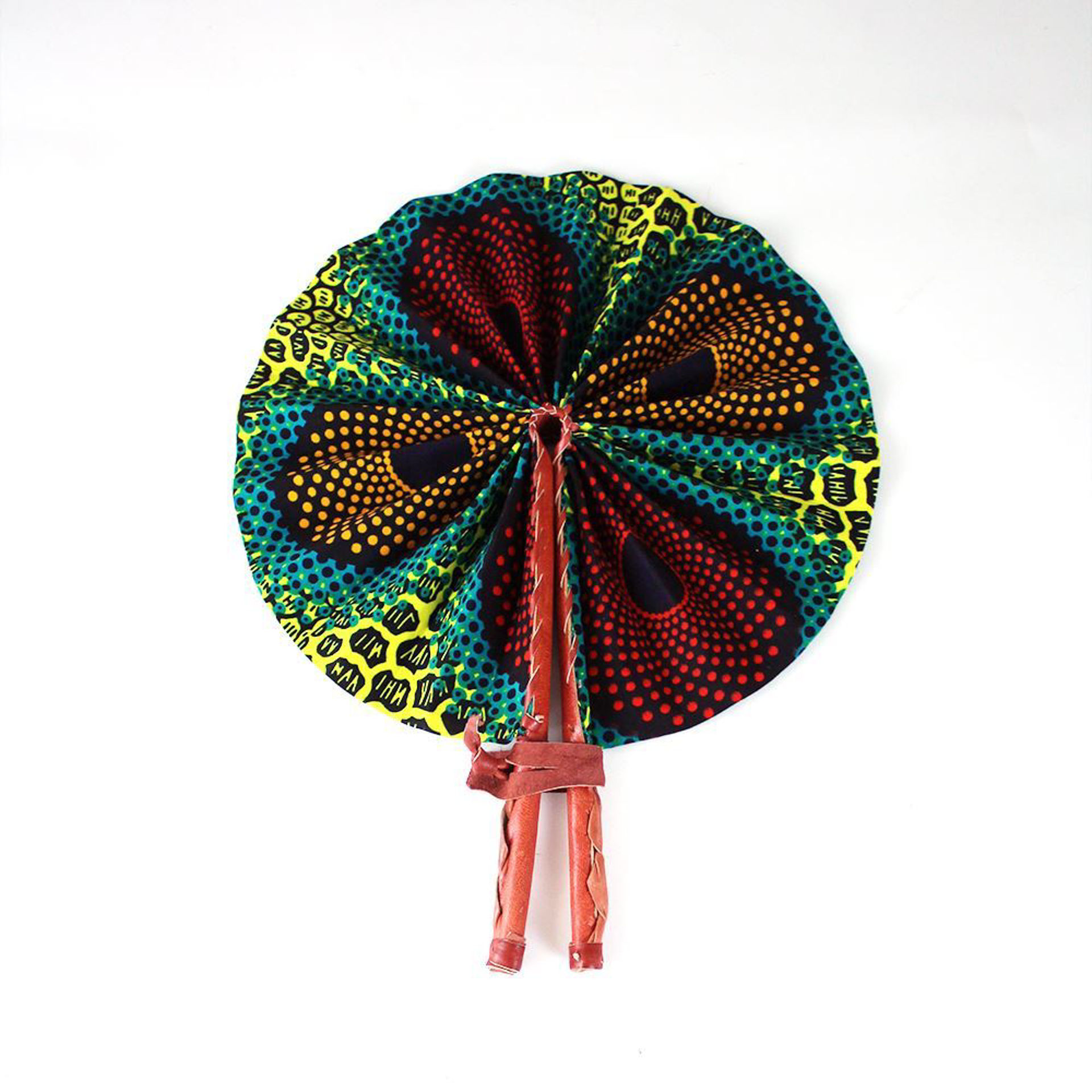 Picture of Circle & Letter Print Folding Fan