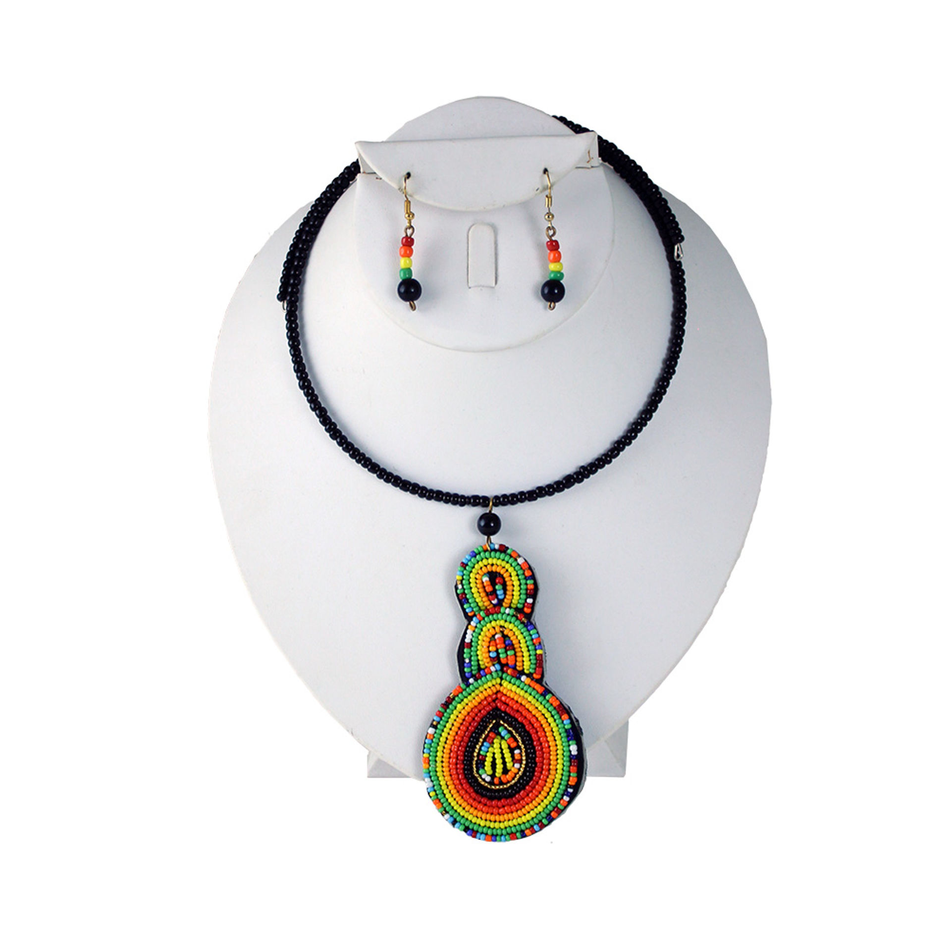 Picture of Kenyan Beaded Leather Choker Set