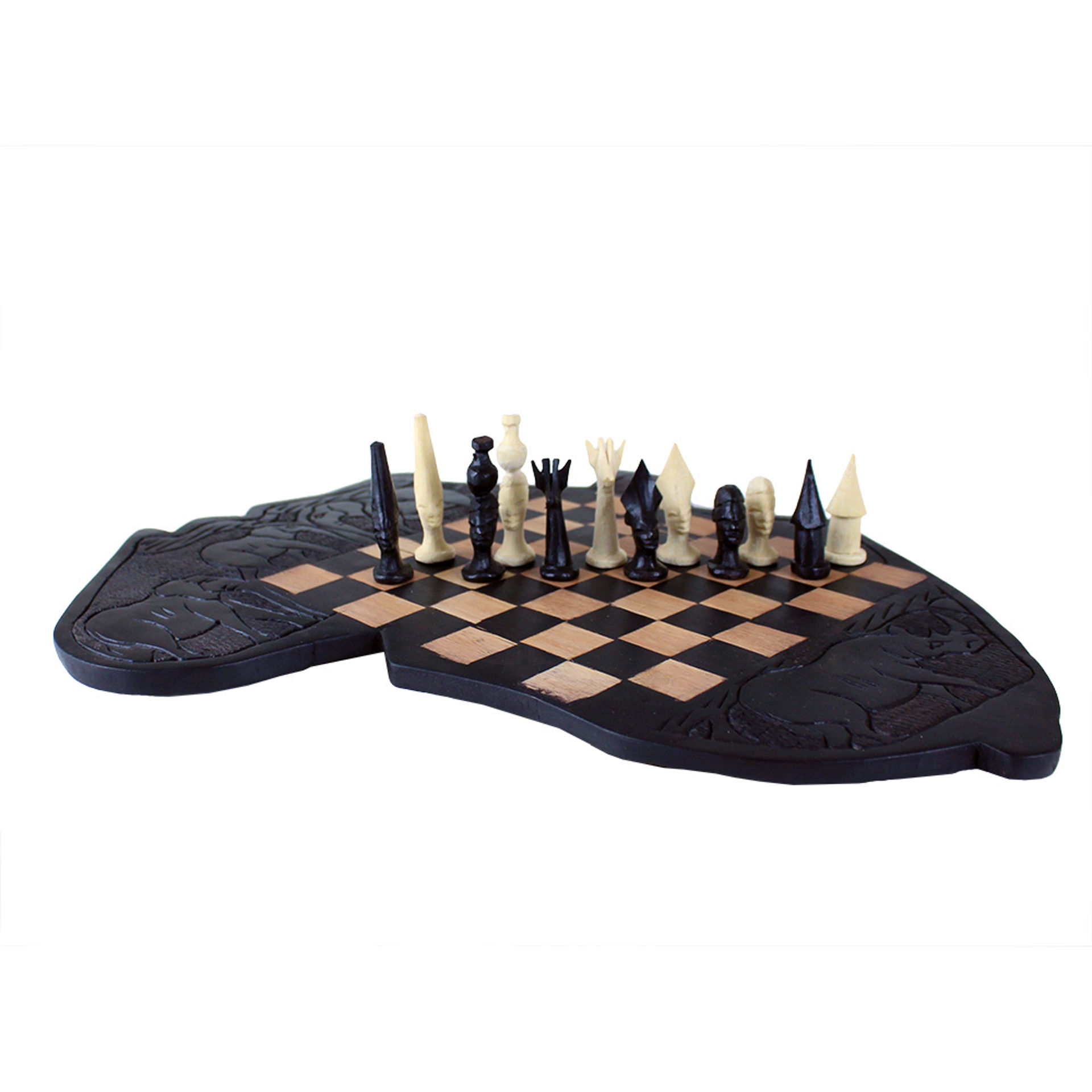 Picture of Makonde Chess Set [3] Africa Board