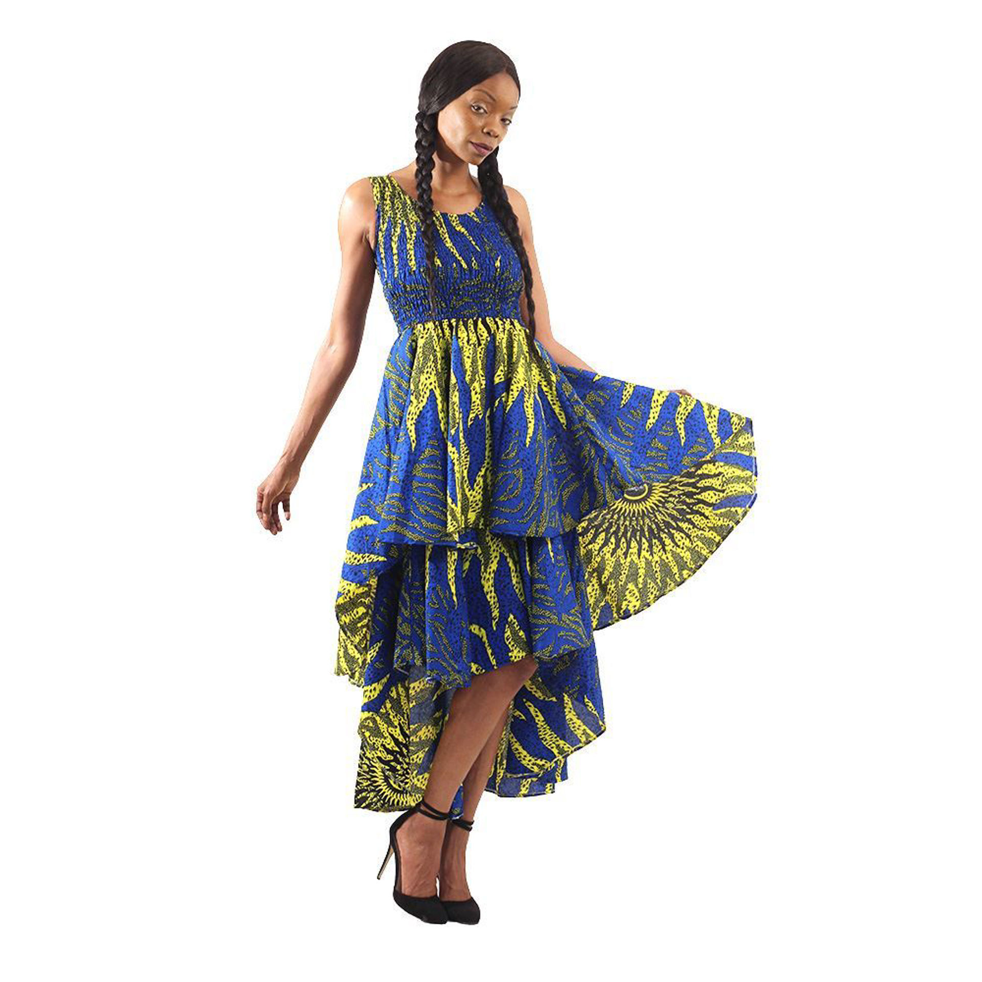 Picture of Blue Sun African Hi-Lo Tier Dress