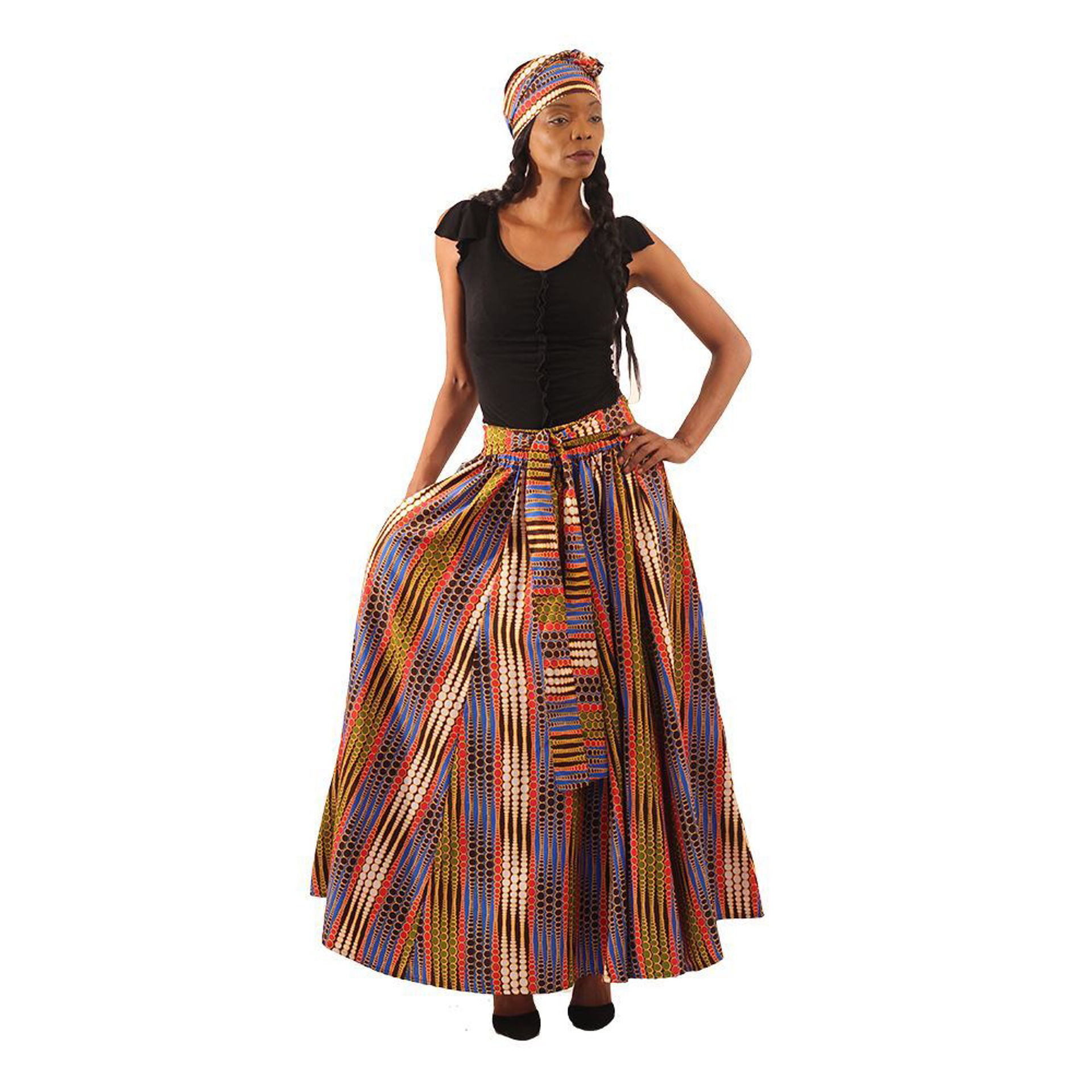 Picture of Ray Of Dots Long Skirt