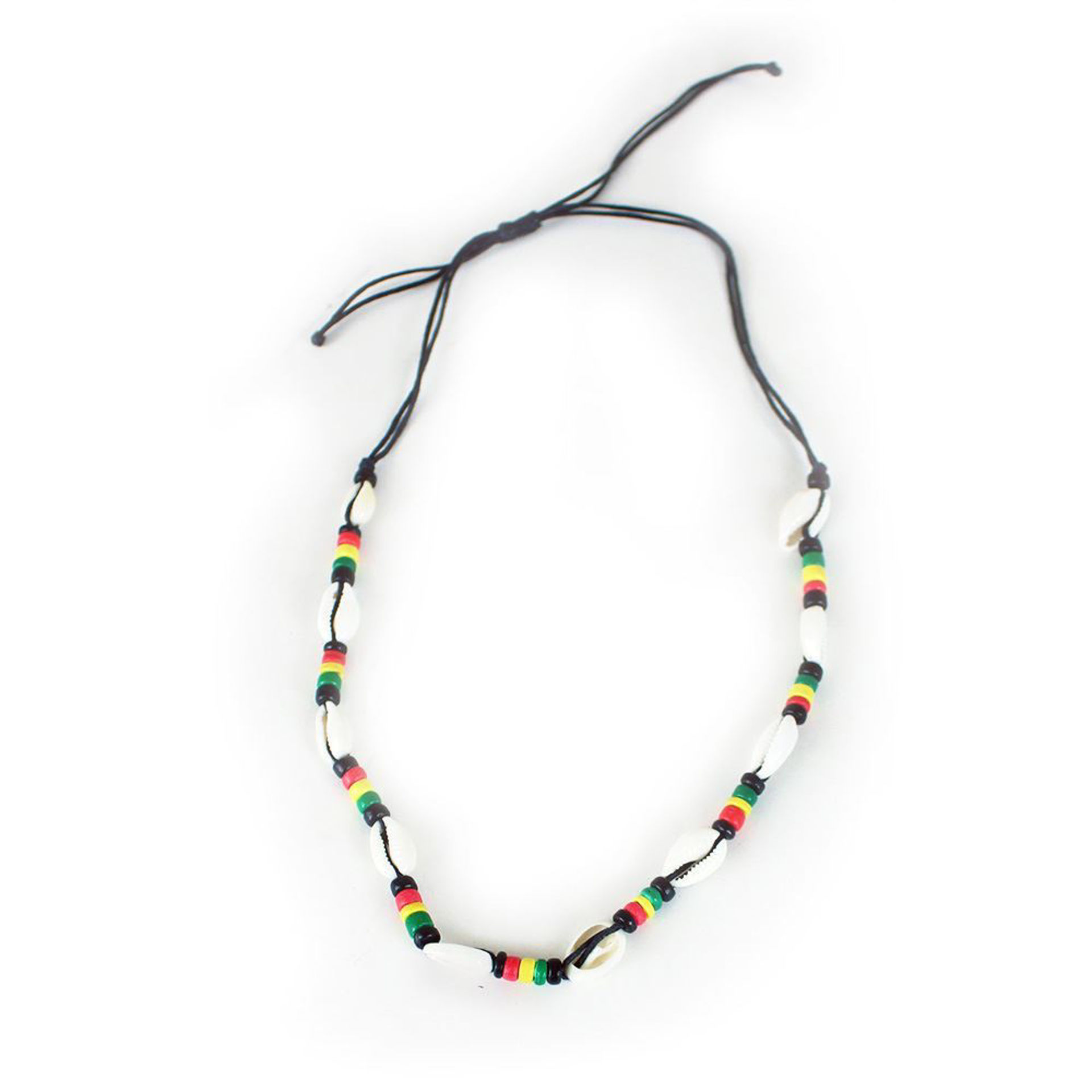 Picture of Set Of 12 Rasta Cowrie Shell Necklaces