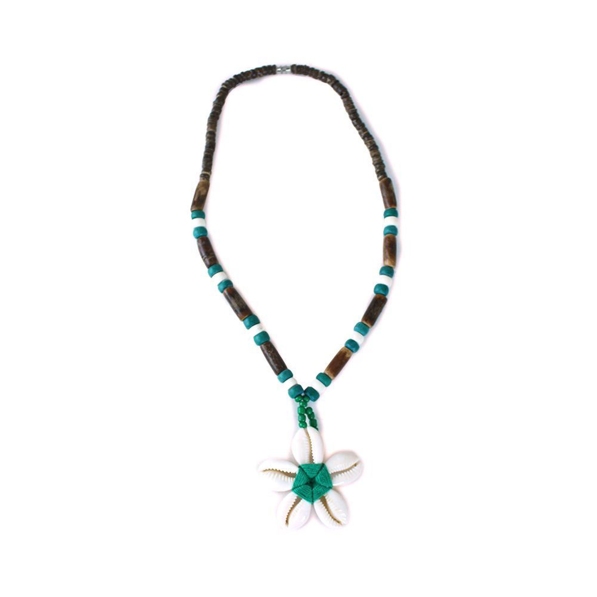 Picture of Set Of 12 Cowrie Shell Flower Necklaces