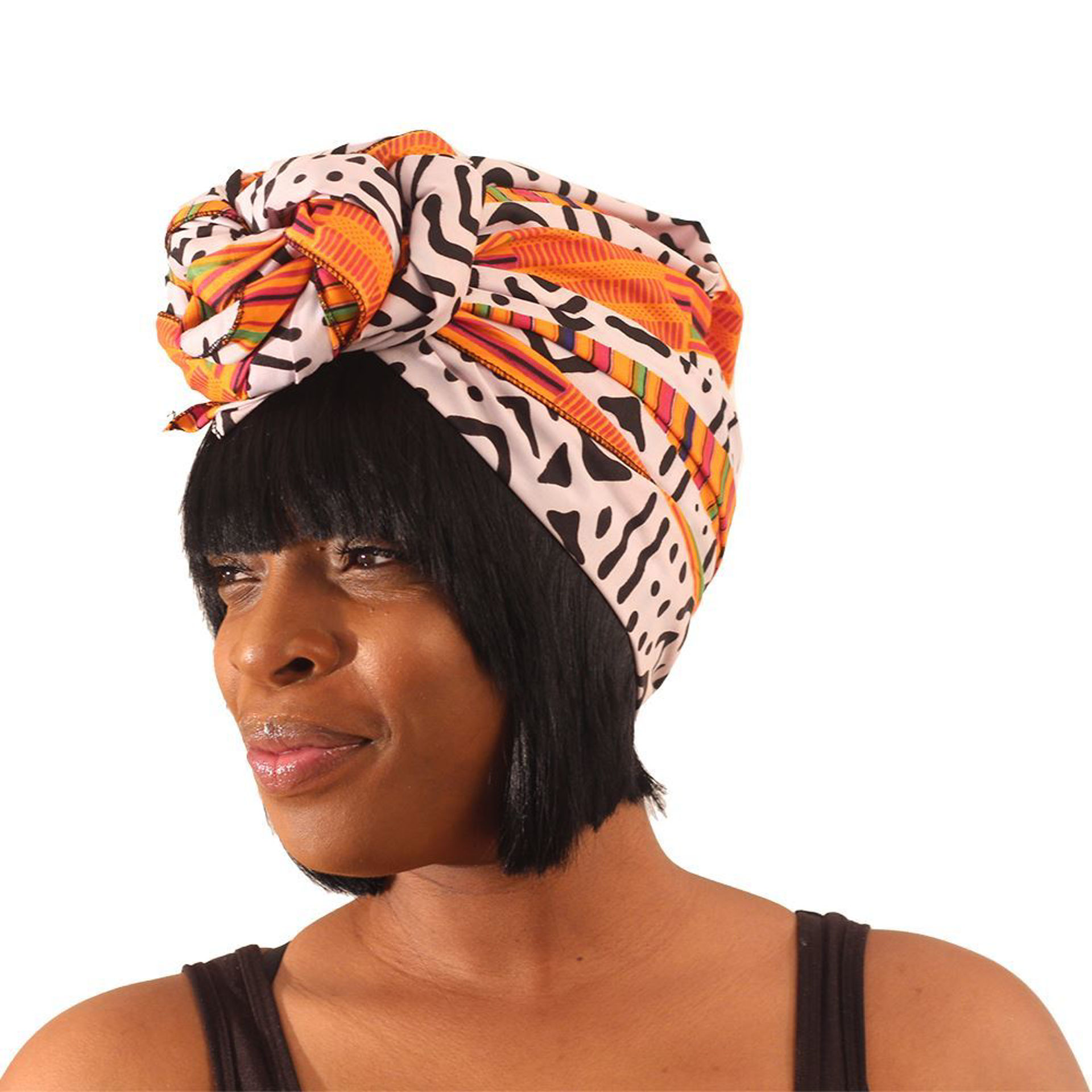 Picture of Kente Mud Print Head Wrap