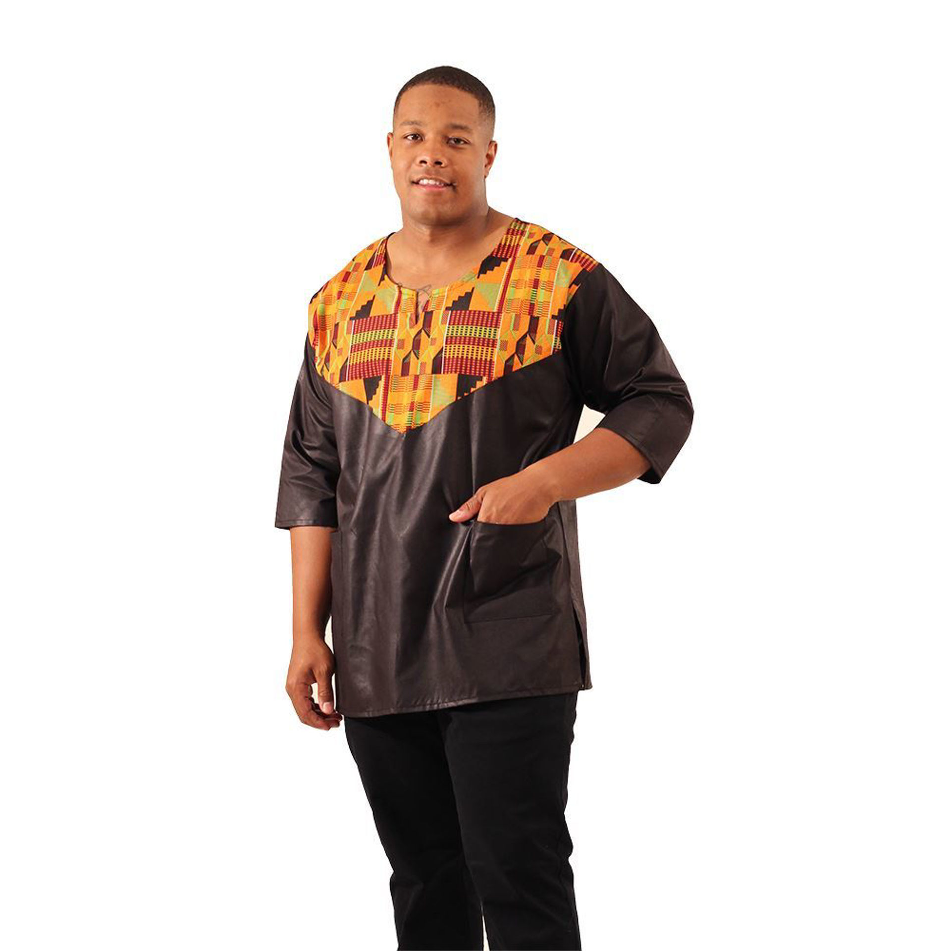 Picture of Black/Kente Dashiki