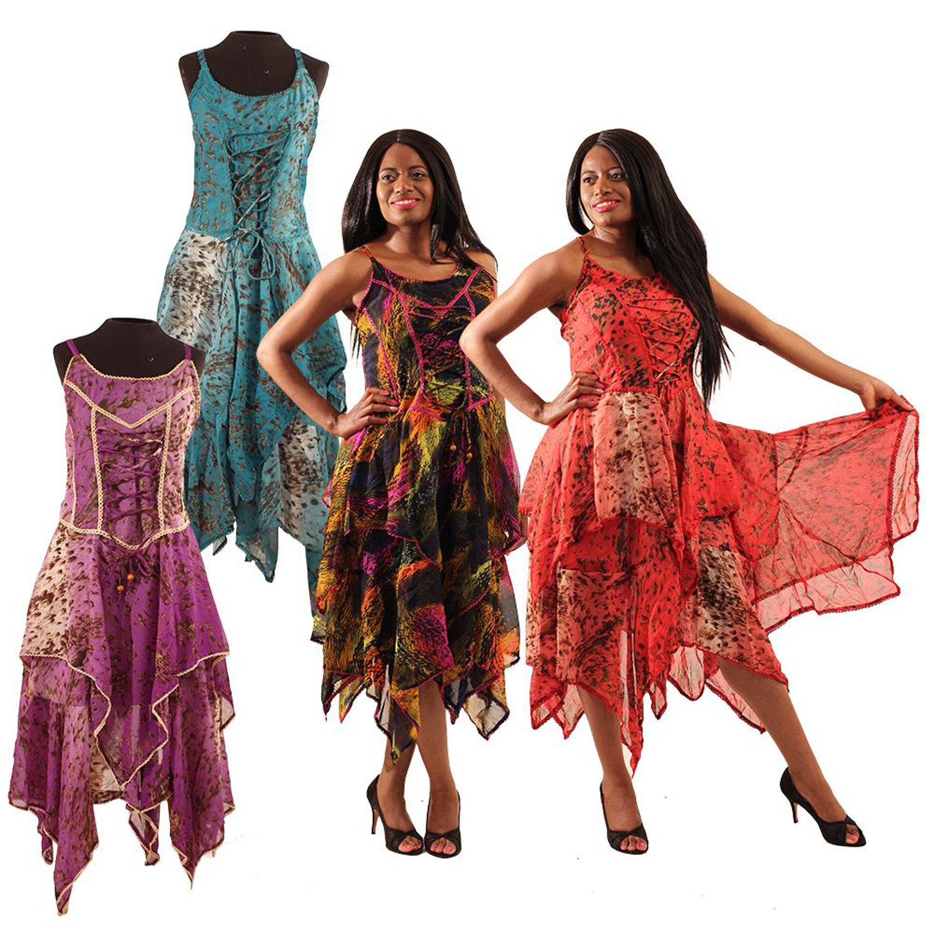 Picture of Set Of 4 ASSORTED Princess Dresses
