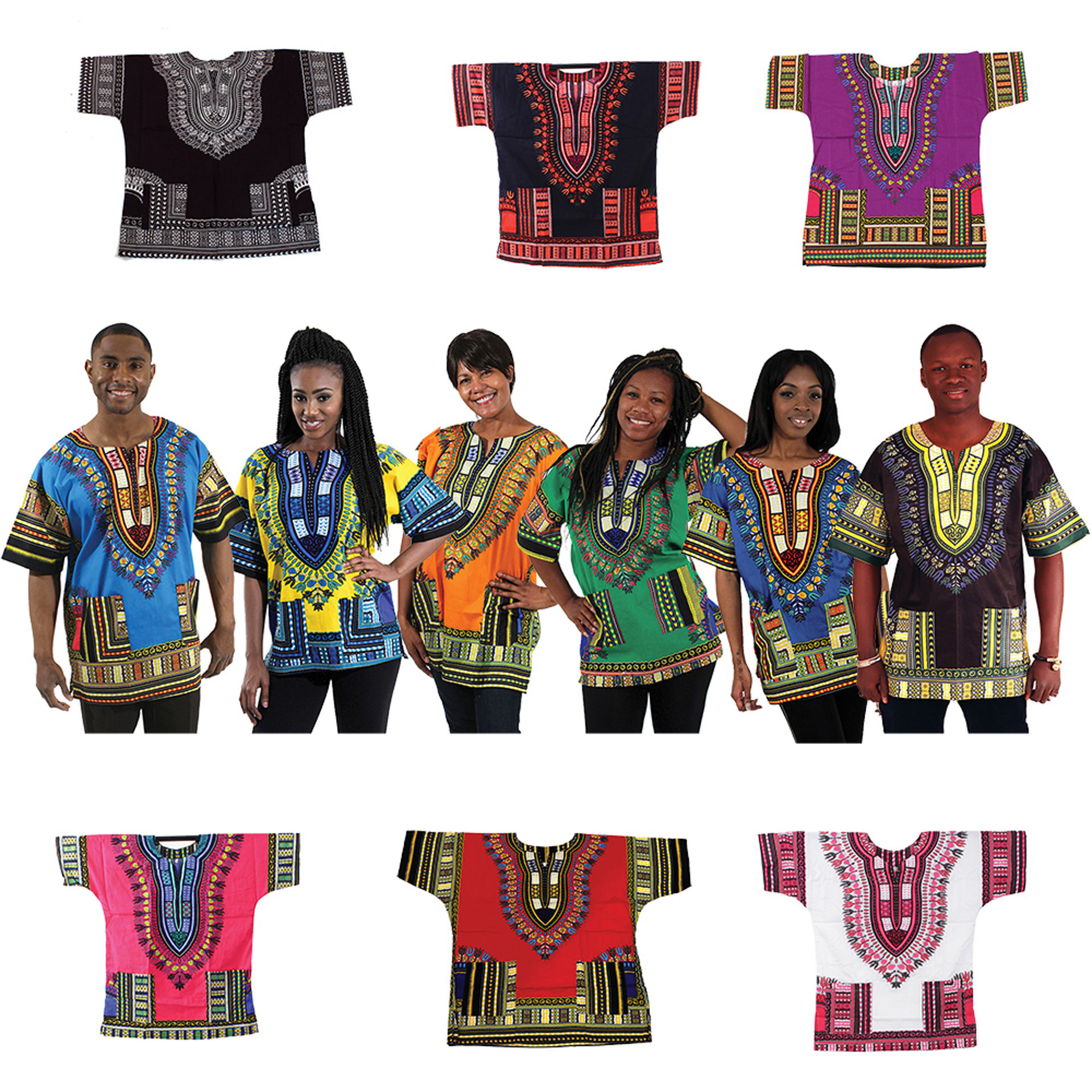 Picture of Set Of 12 Traditional Print Dashikis