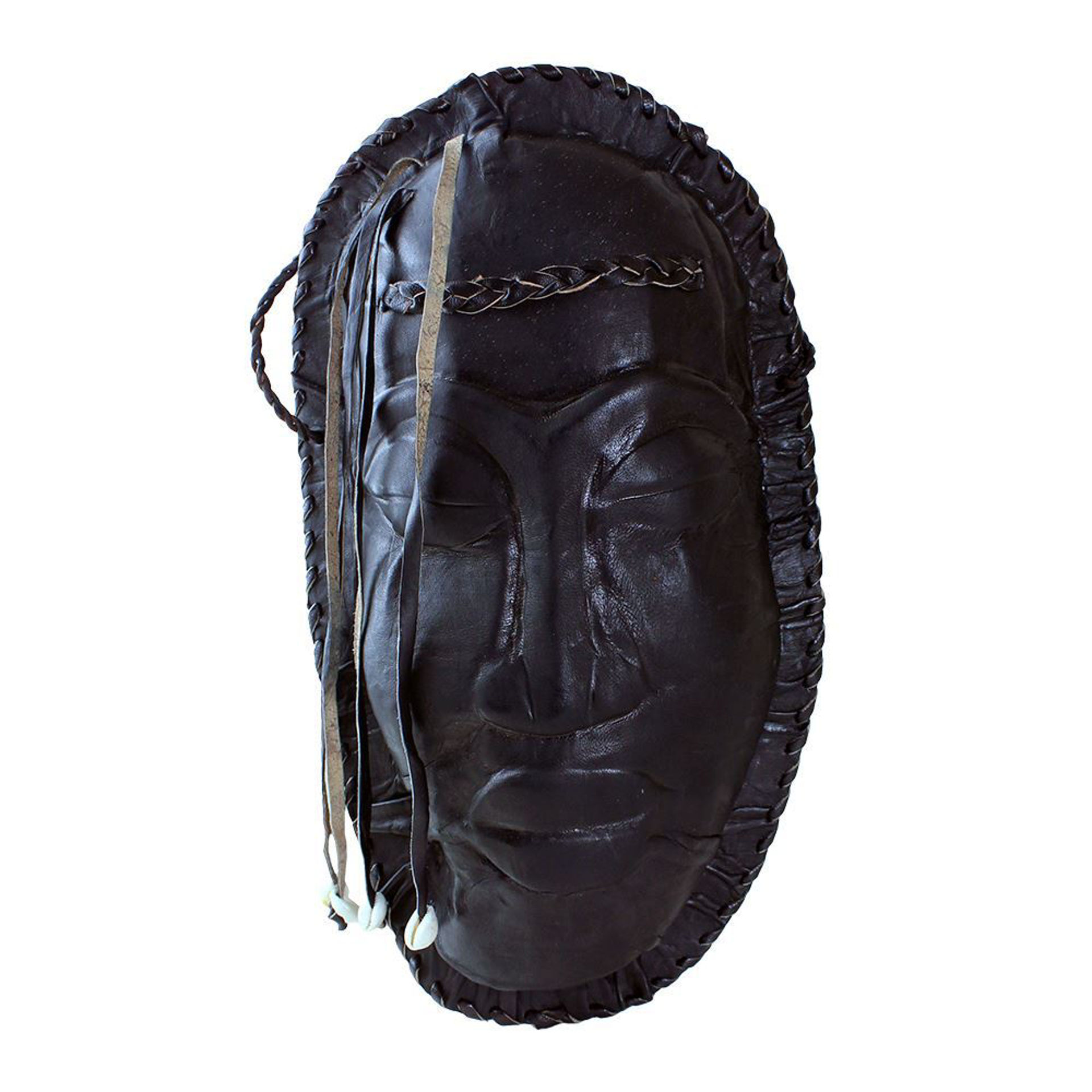 Picture of Black Leather Purse - Mask Design