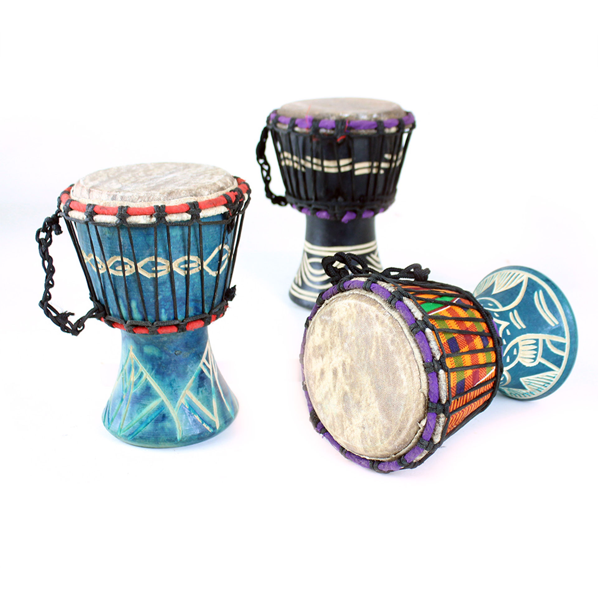 Picture of Ghanaian D'Jembe Drum: X-Small 6-8""