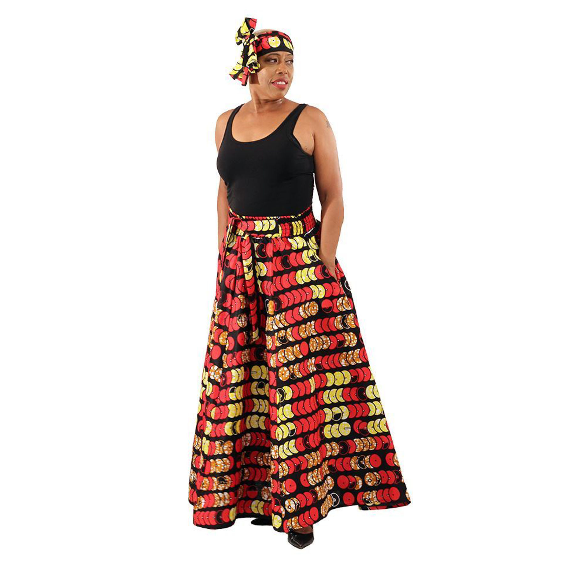 Picture of African Festival Print Skirt - 8 Panel