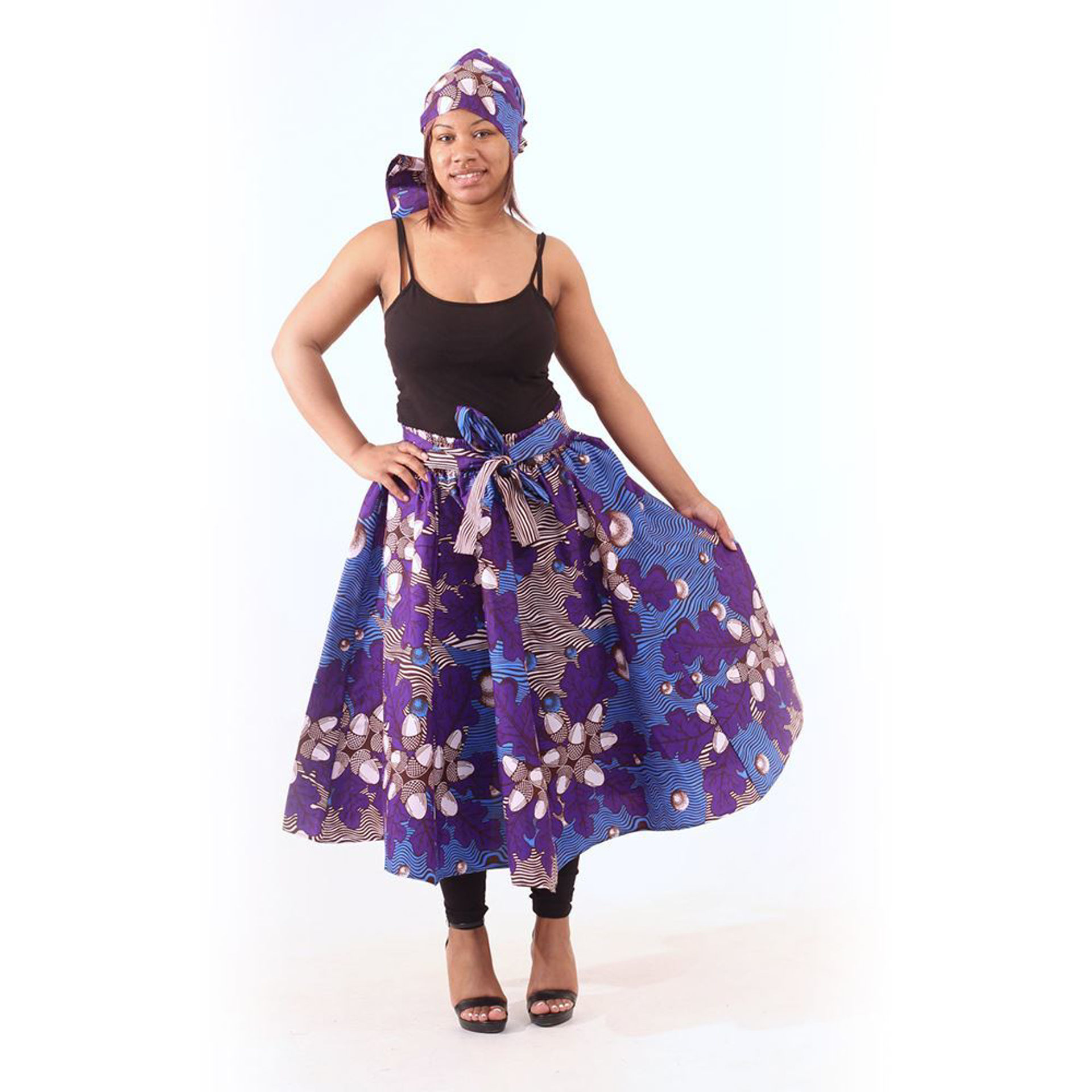 Picture of Blue Acorn Print Skirt