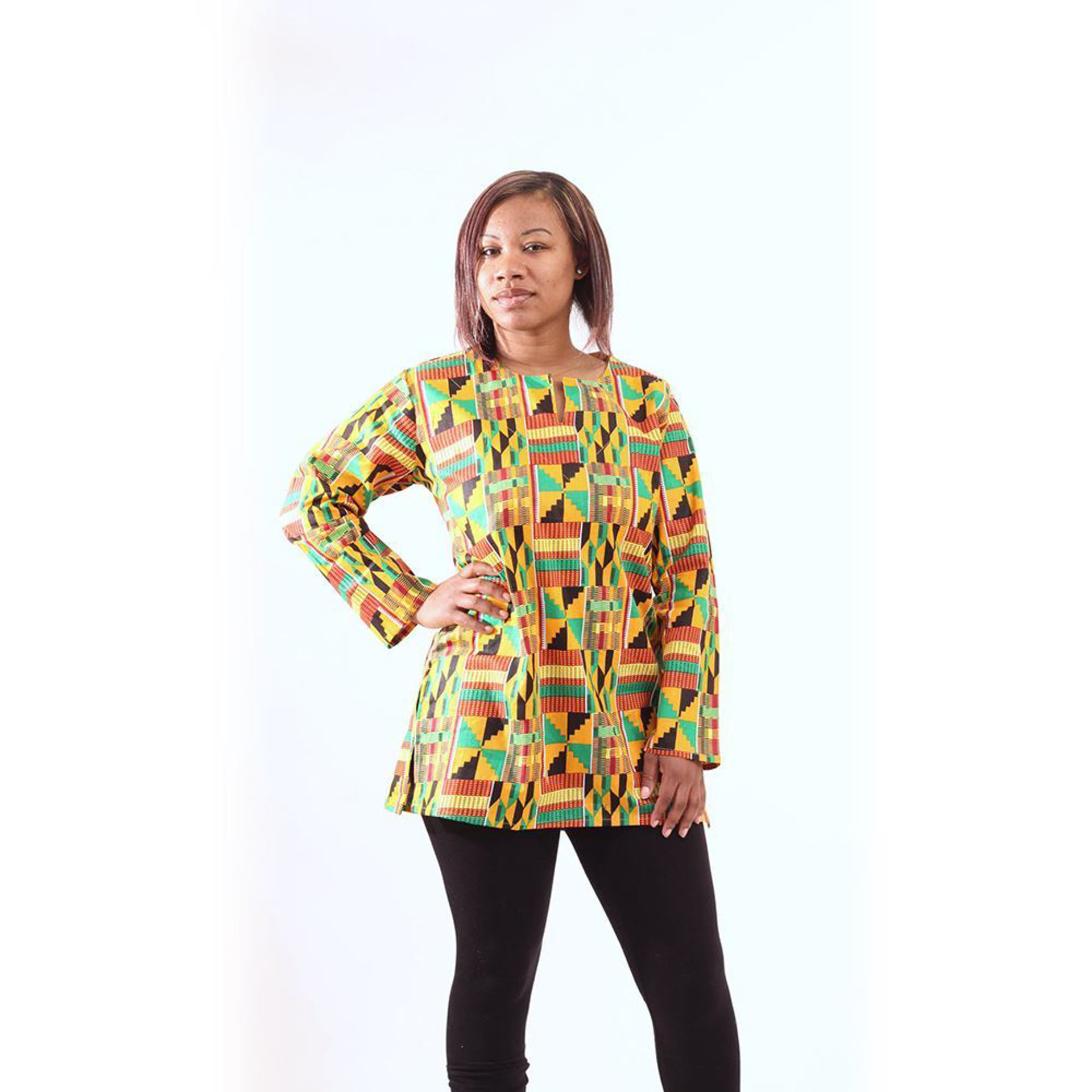 Picture of Kente #2 Long-Sleeve Dashiki