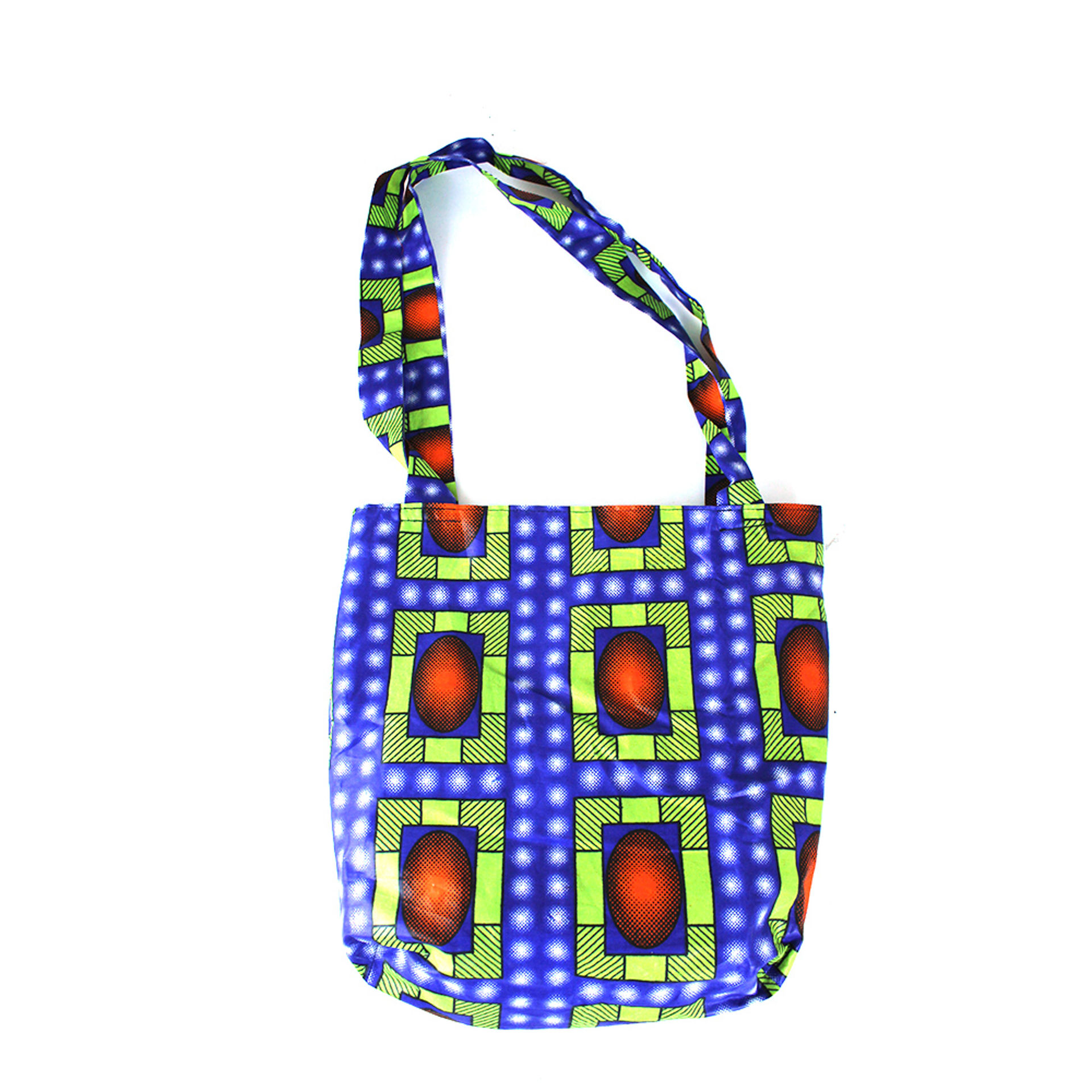 Picture of African Print Handbag - Cosmic Blue