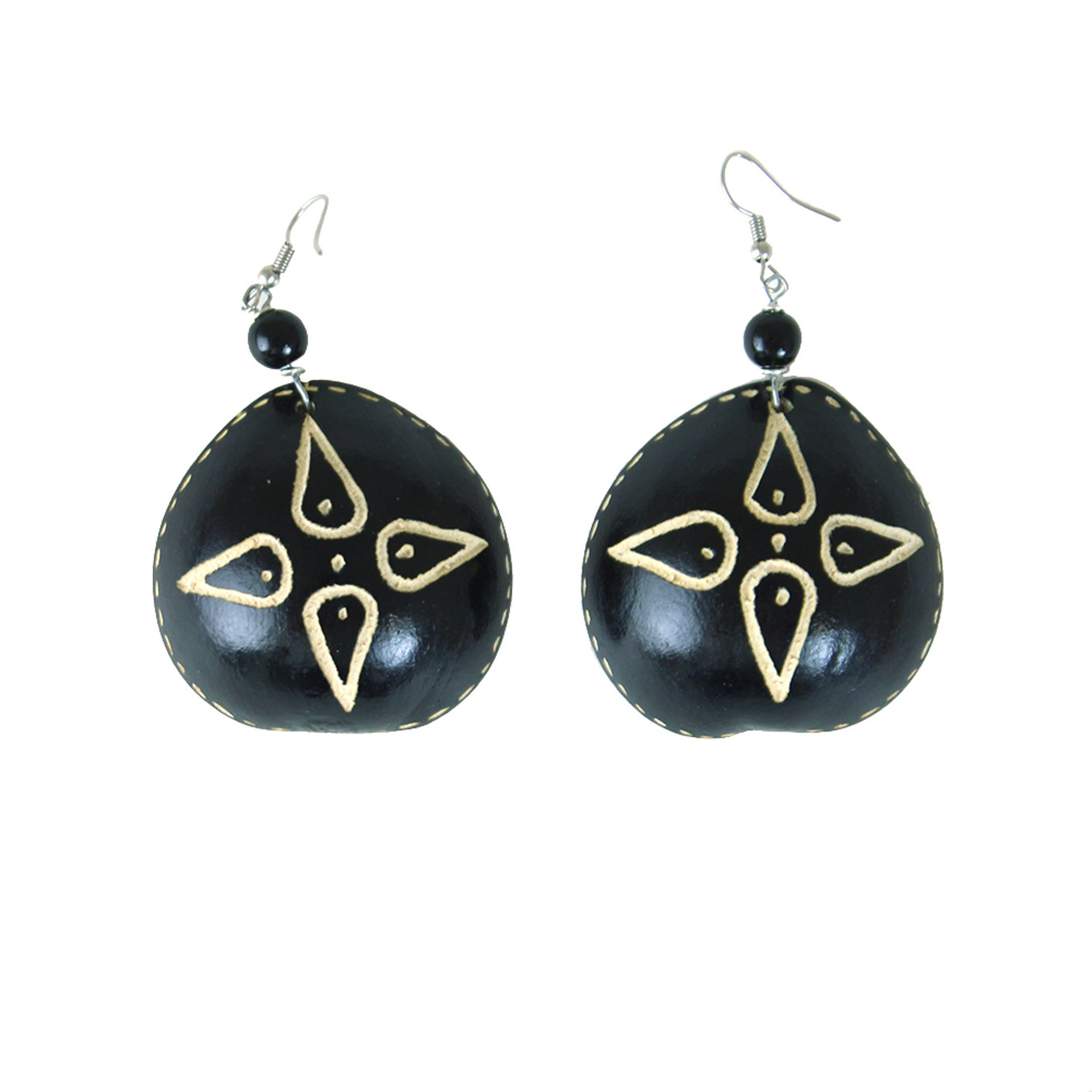 Picture of Black Gourd Calabash Earrings