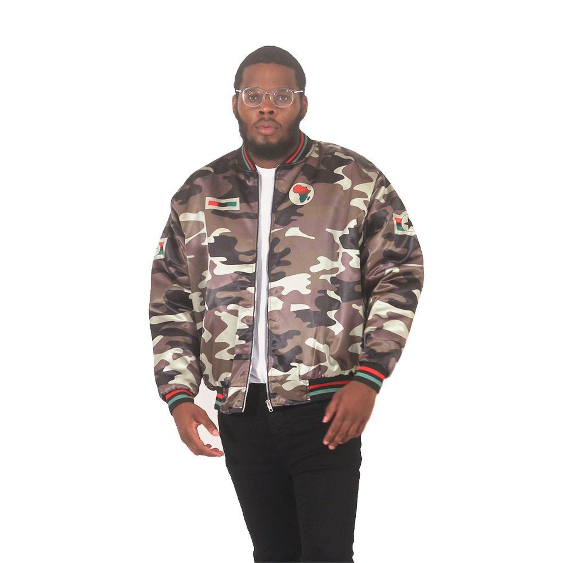 Picture of Men's African Camo Bomber Jacket