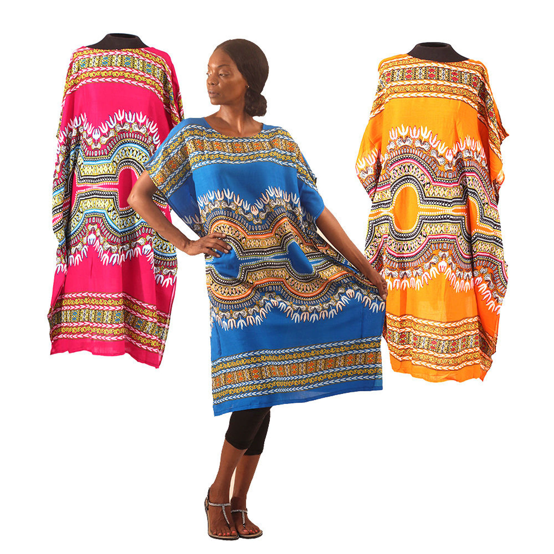 Picture of Traditional Print Short Kaftan