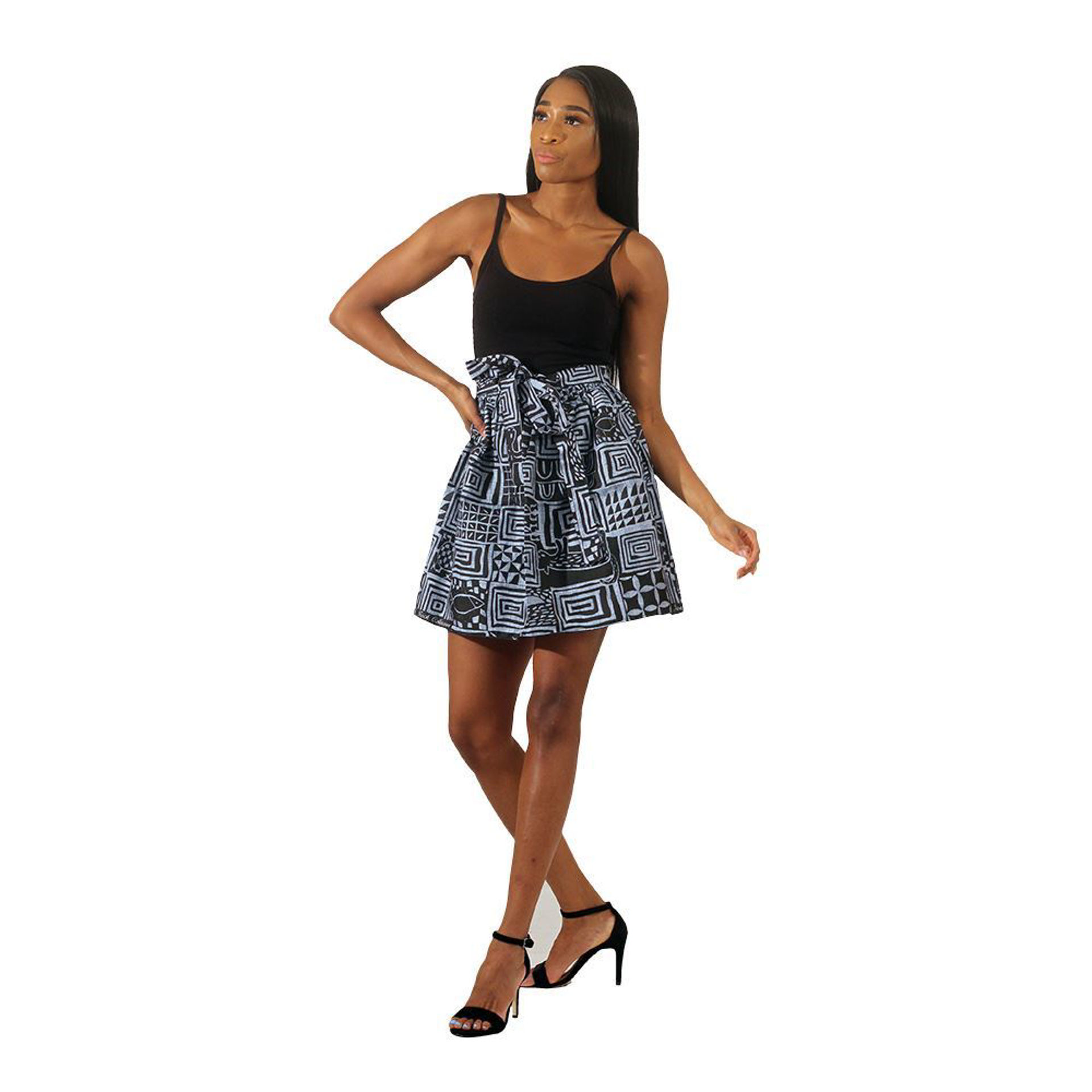 Picture of African Mud Print Mini Skirt