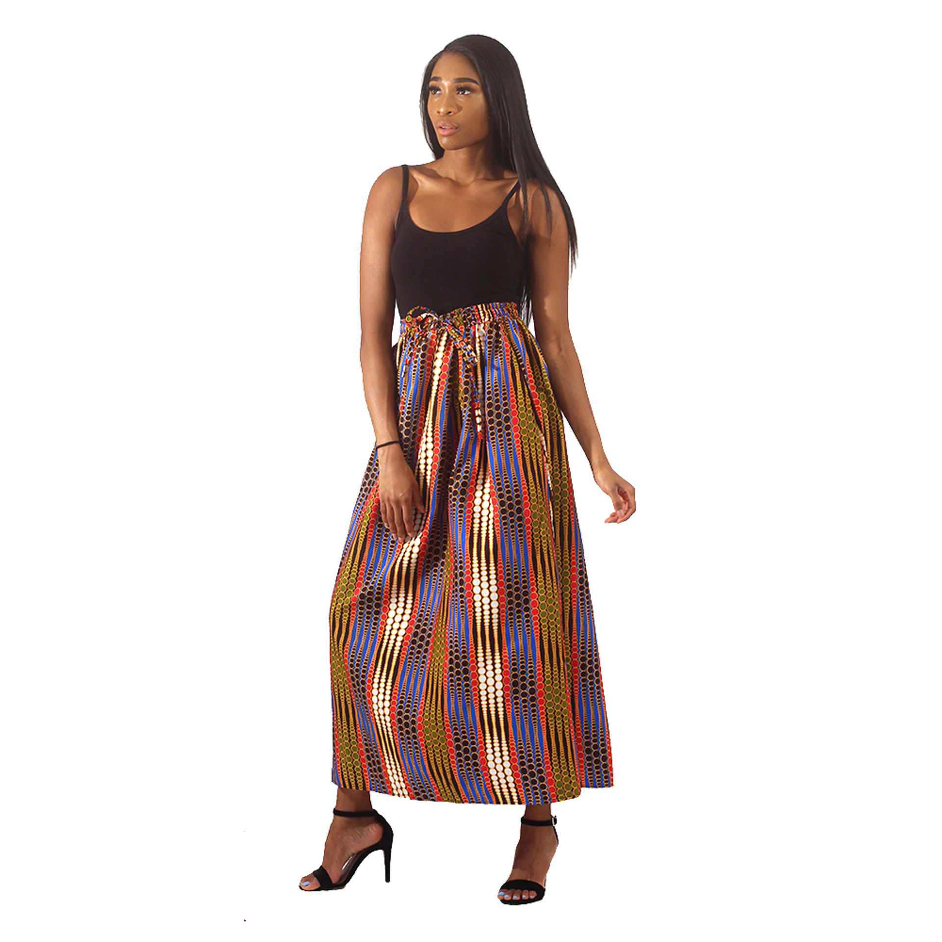 Picture of African Print Dot Pattern Long Skirt