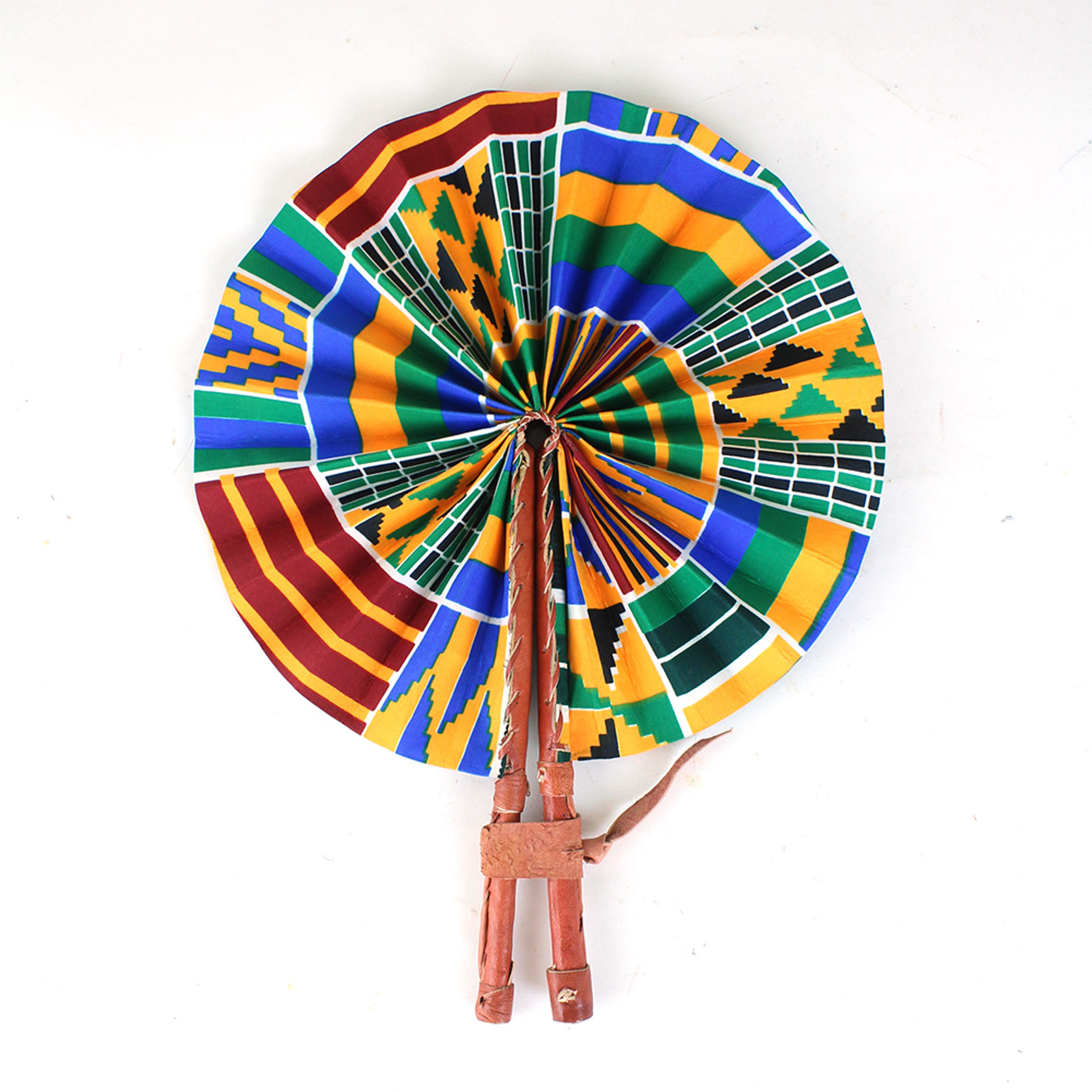Picture of Kenyan Kente Folding Fan: Style-2