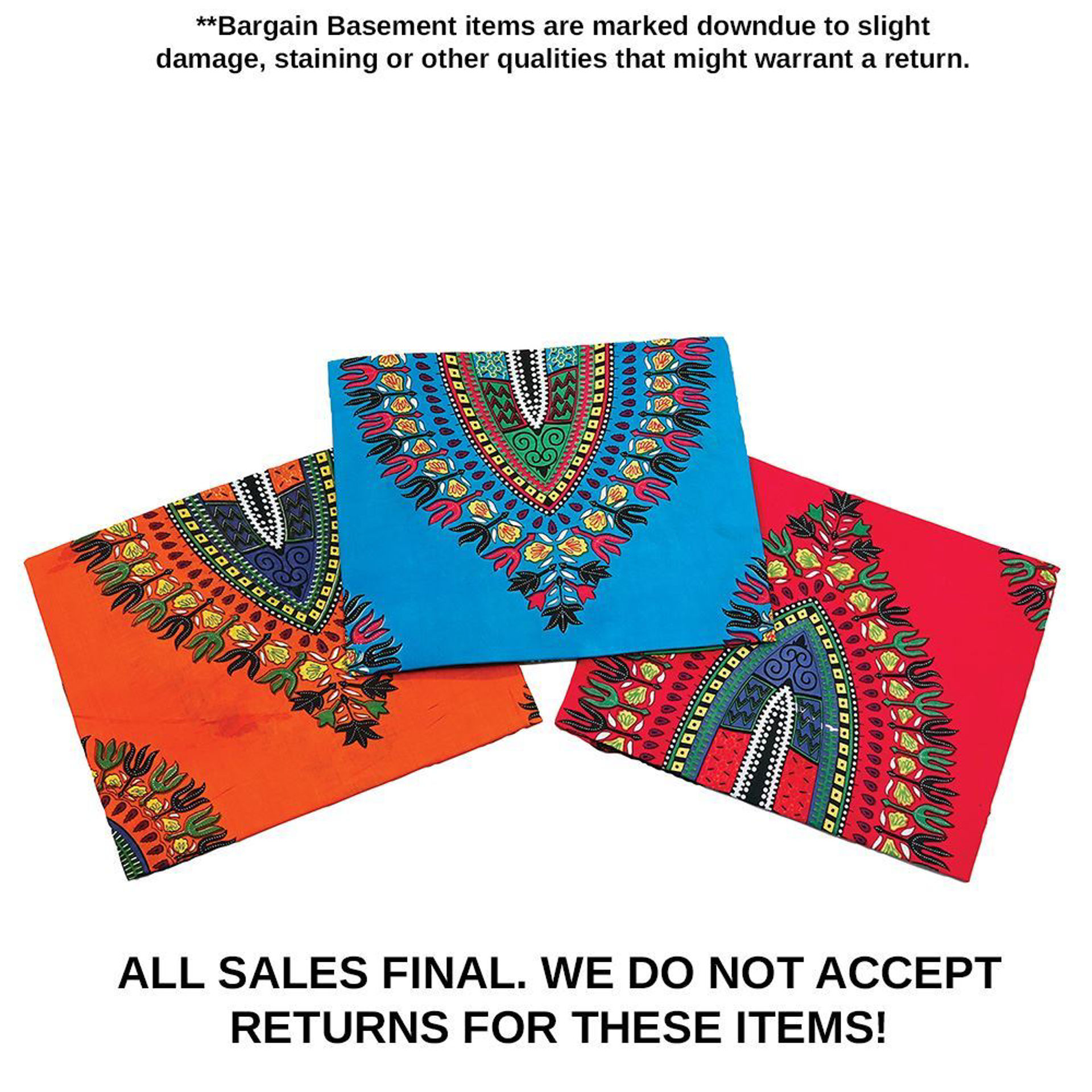Picture of DAMAGED Set Of 3 Trad Print Sarongs