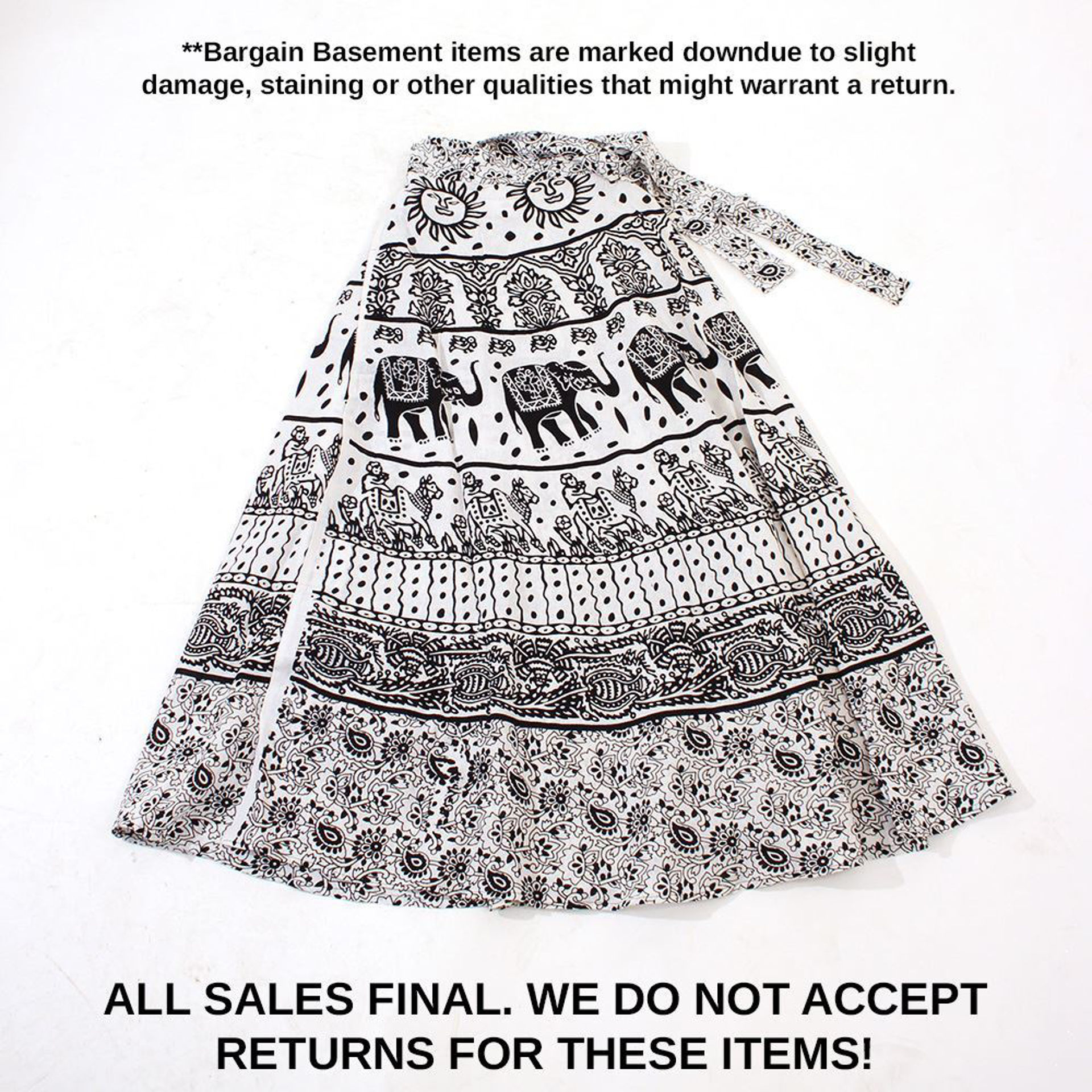 Picture of MISPRINTED Animal Wrap Skirt: White