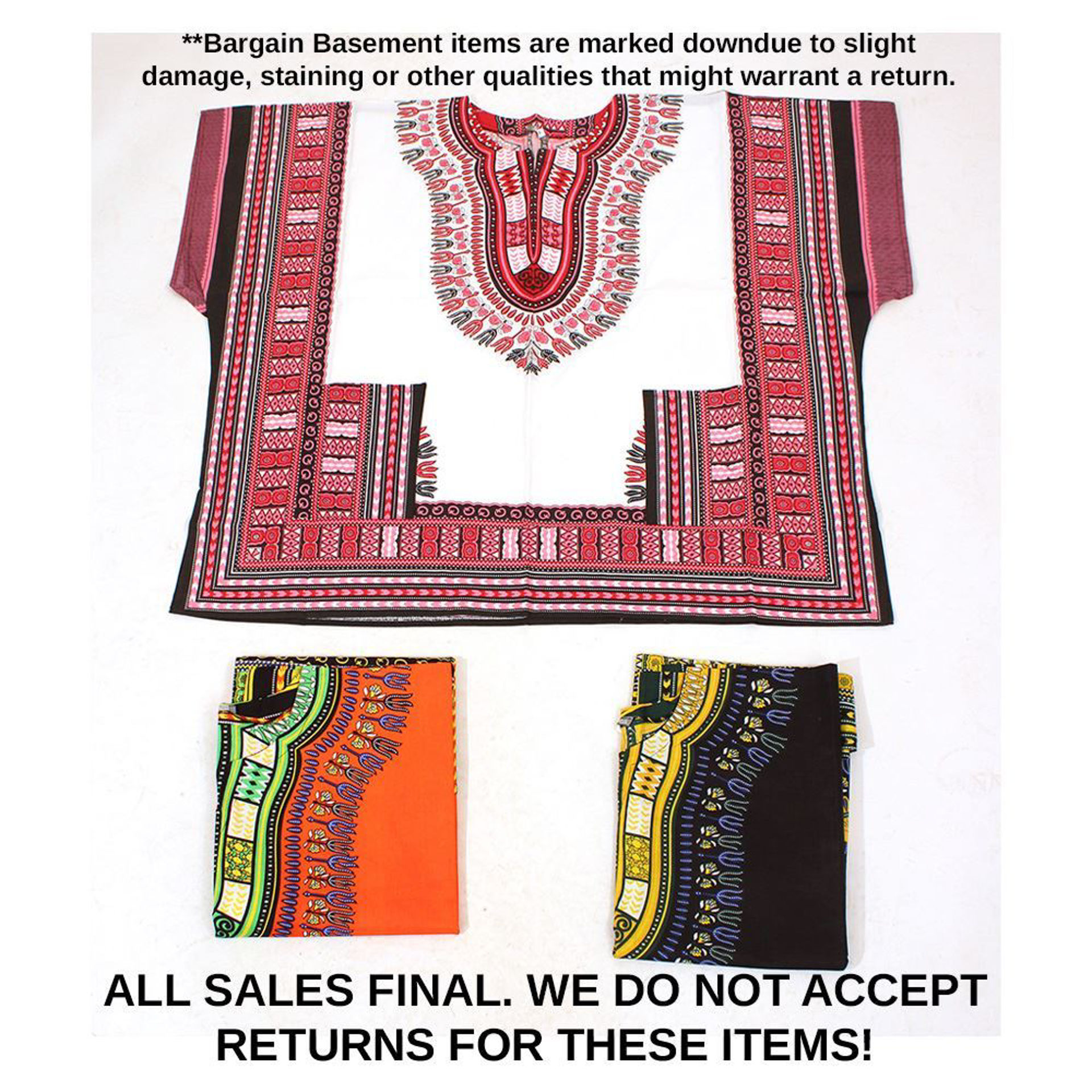Picture of Set Of 3 2nd Quality King-Size Dashikis