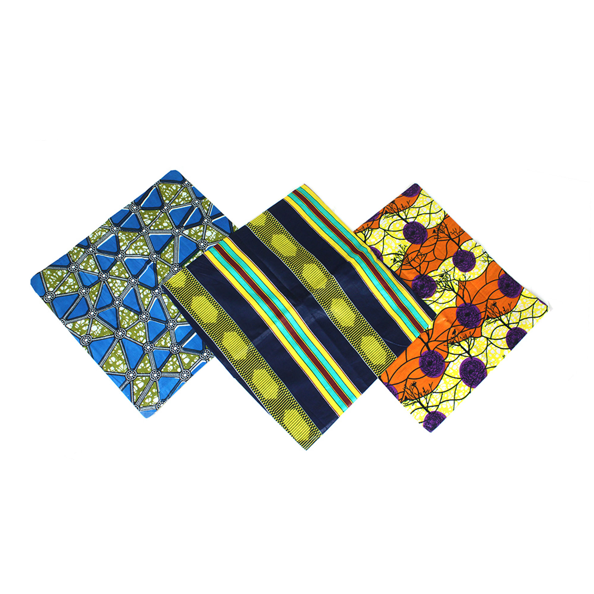 Picture of Set Of 3 African Print Pillow Covers