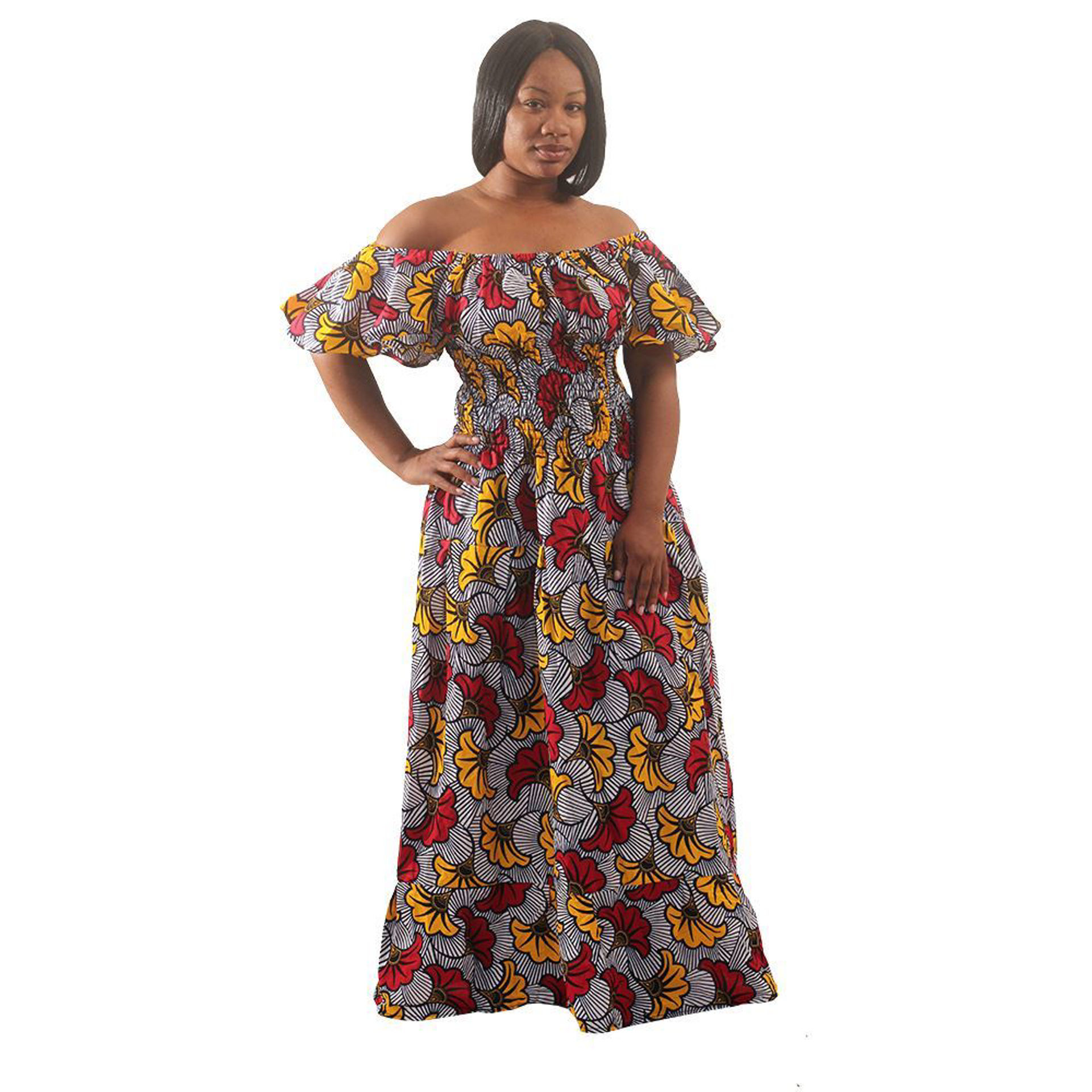 Picture of African Flower Print Princess Dress