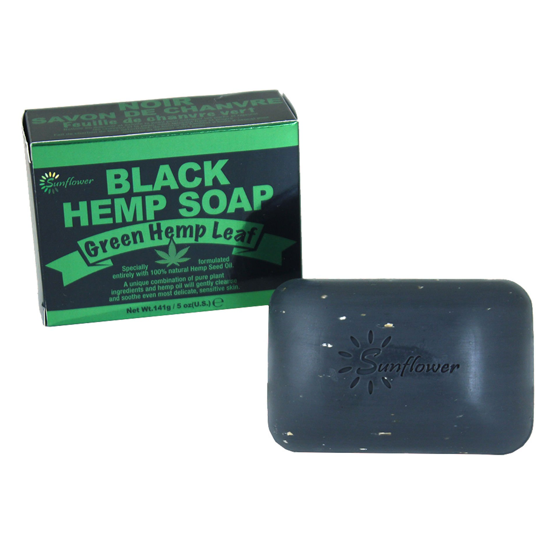 Picture of Green Hemp Leaf Black Hemp Soap - 5 oz.