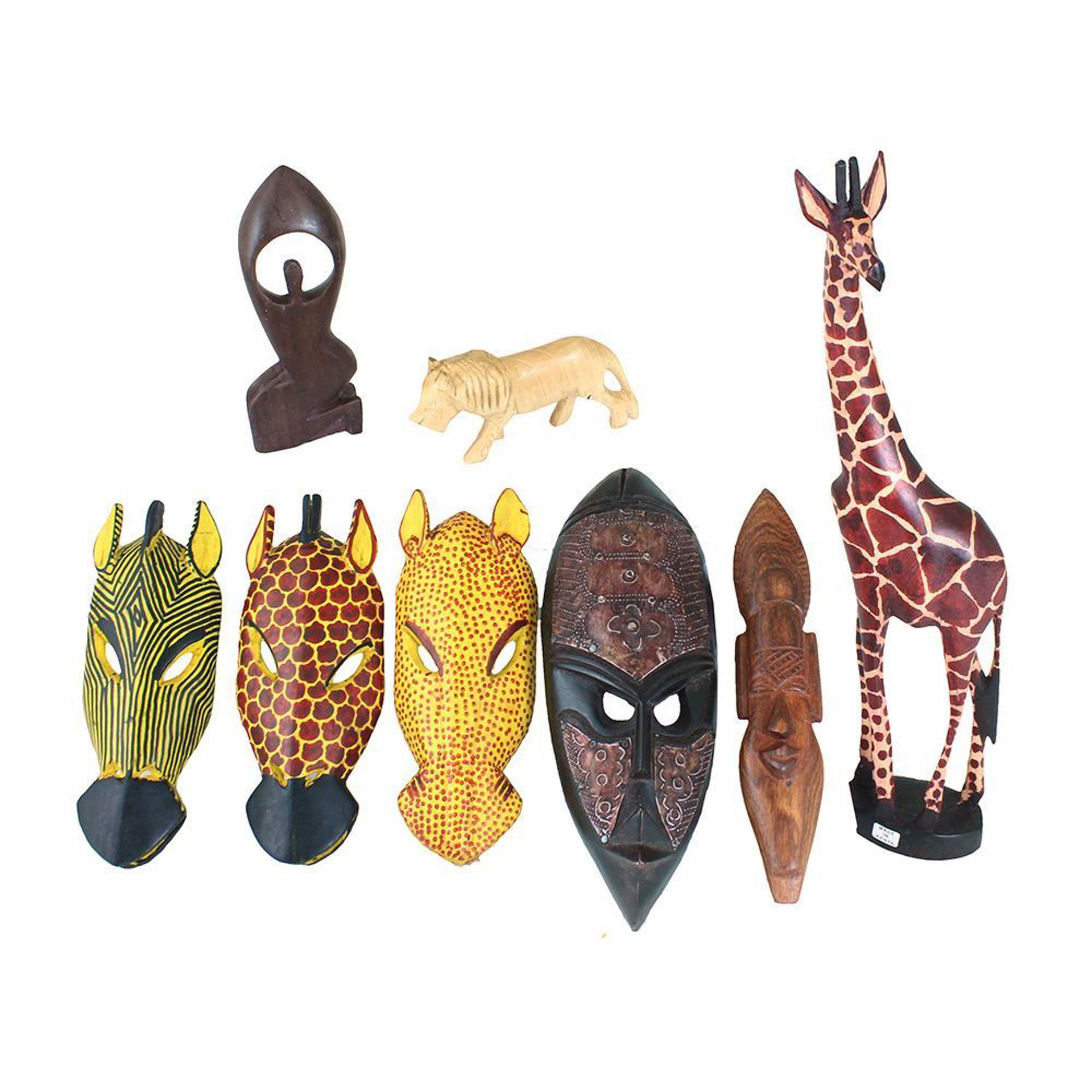 Picture of Set Of 8 African Wood Carvings