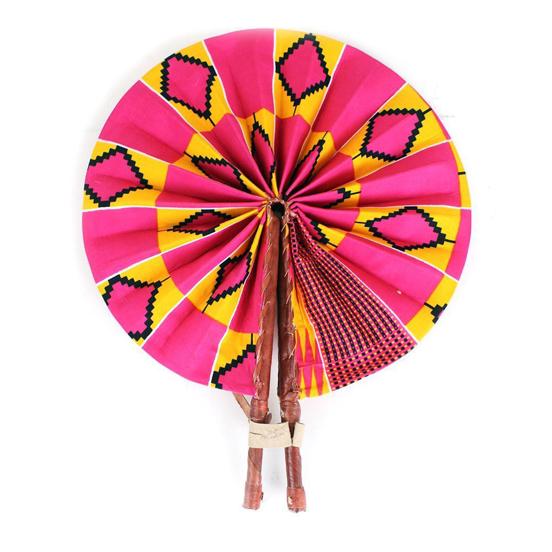 Picture of Pink/Orange Kente Folding Fan