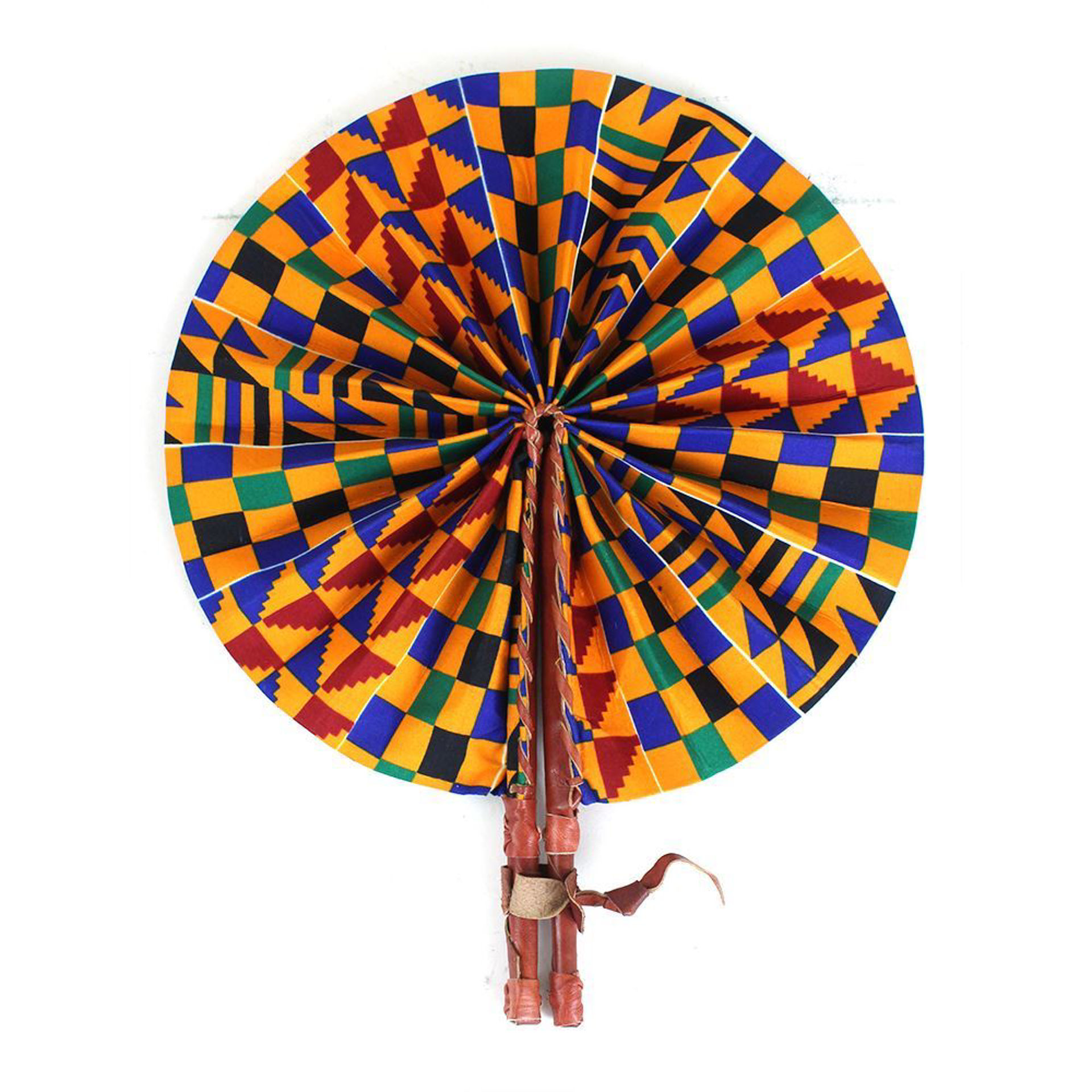 Picture of Orange Kente Folding Fan