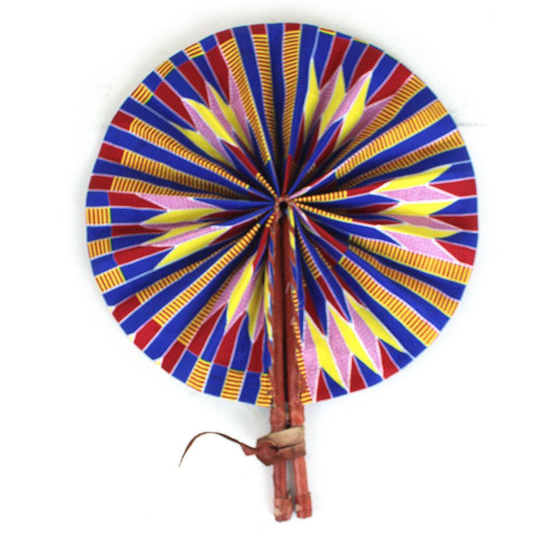 Picture of Yellow/Blue/Red Kente Folding Fan