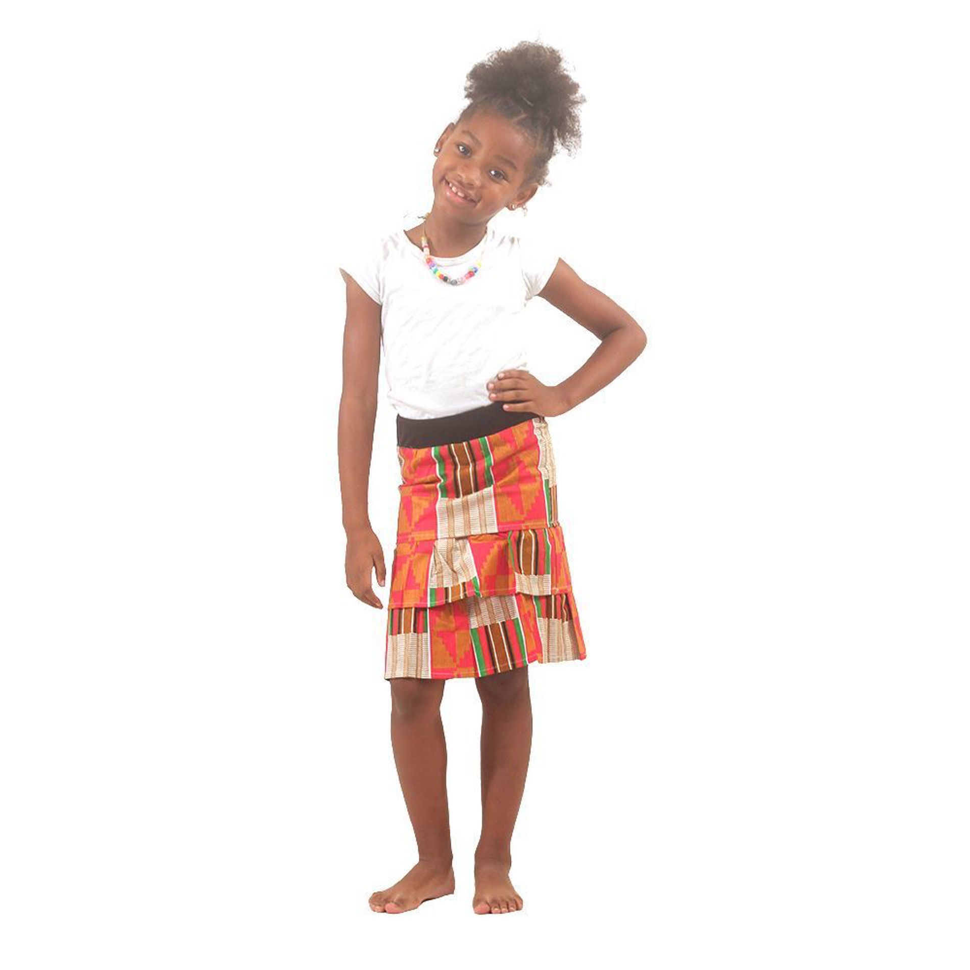 Picture of Pink Kente Children's Skirt