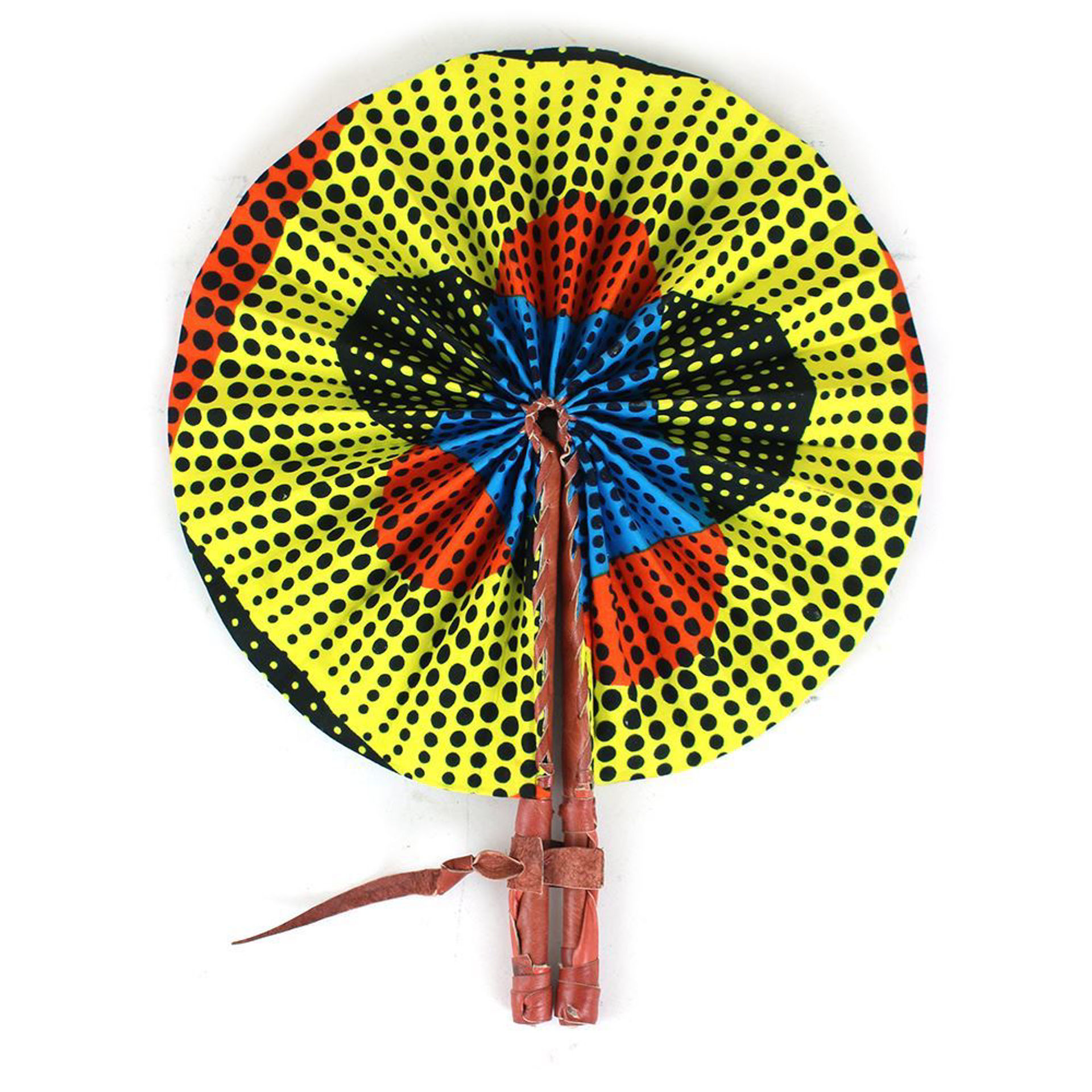 Picture of Dotted African Print Folding Fan