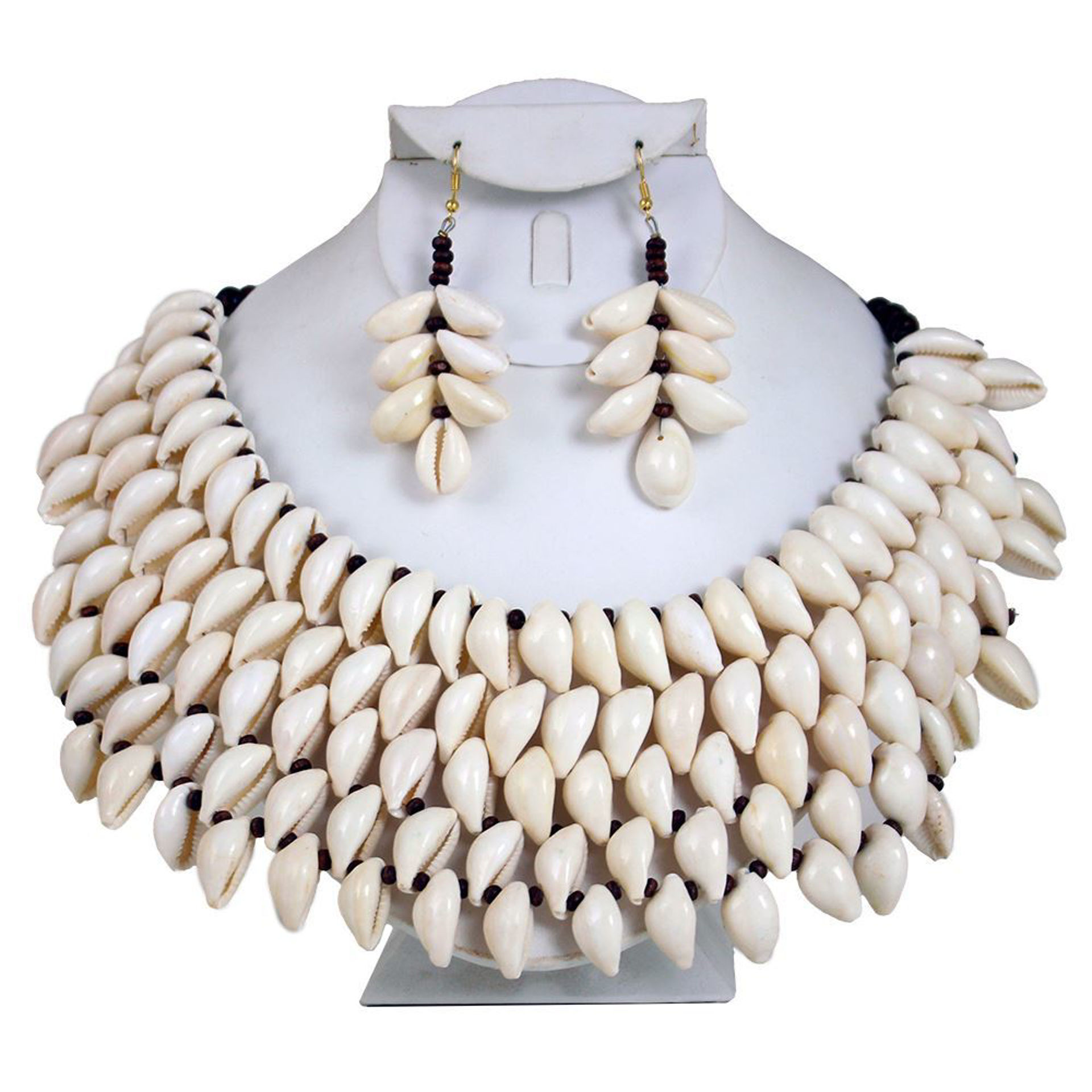 Picture of Kodi Cowrie Shell 5-Row Jewelry Set