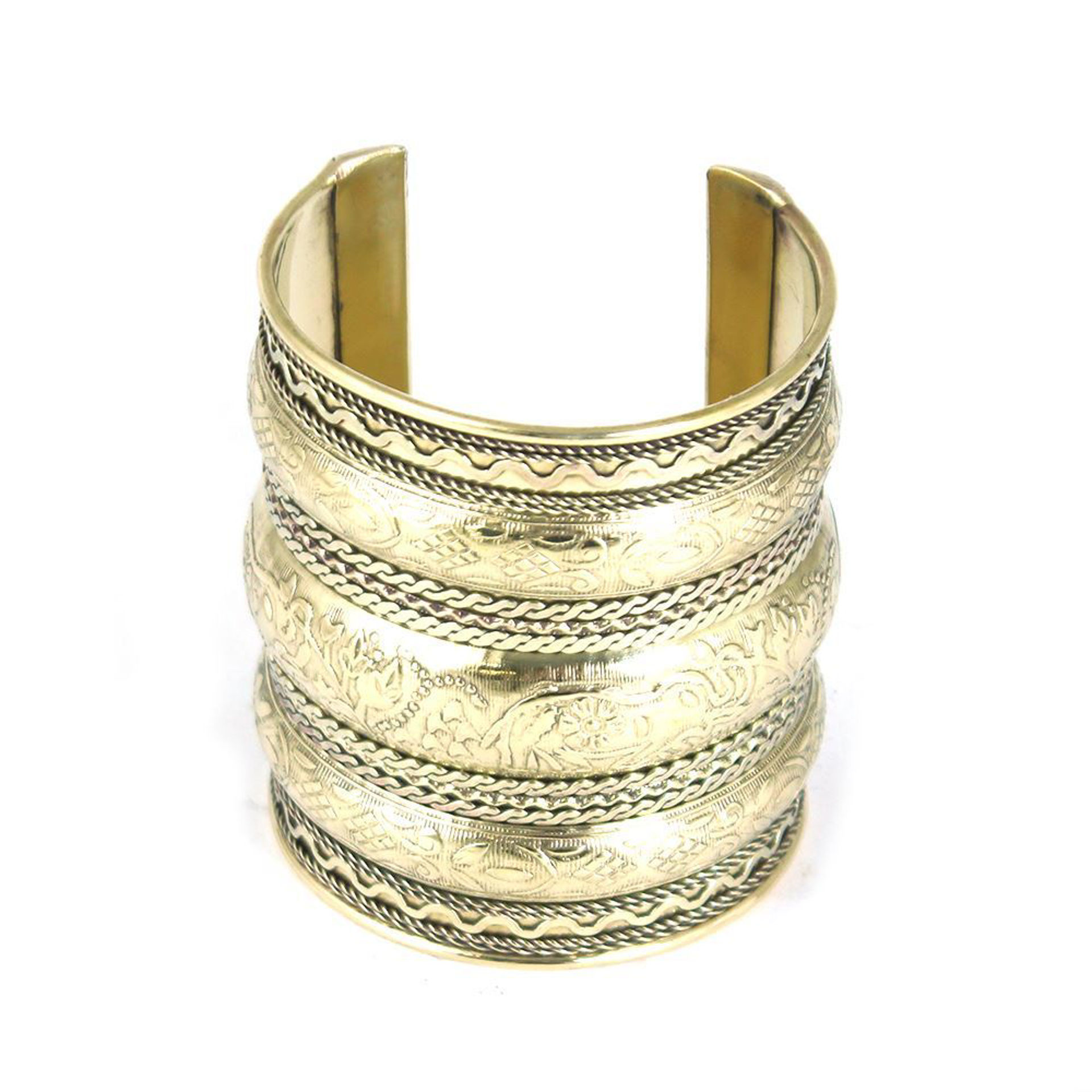 Picture of Elephants On Parade Cuff: Gold