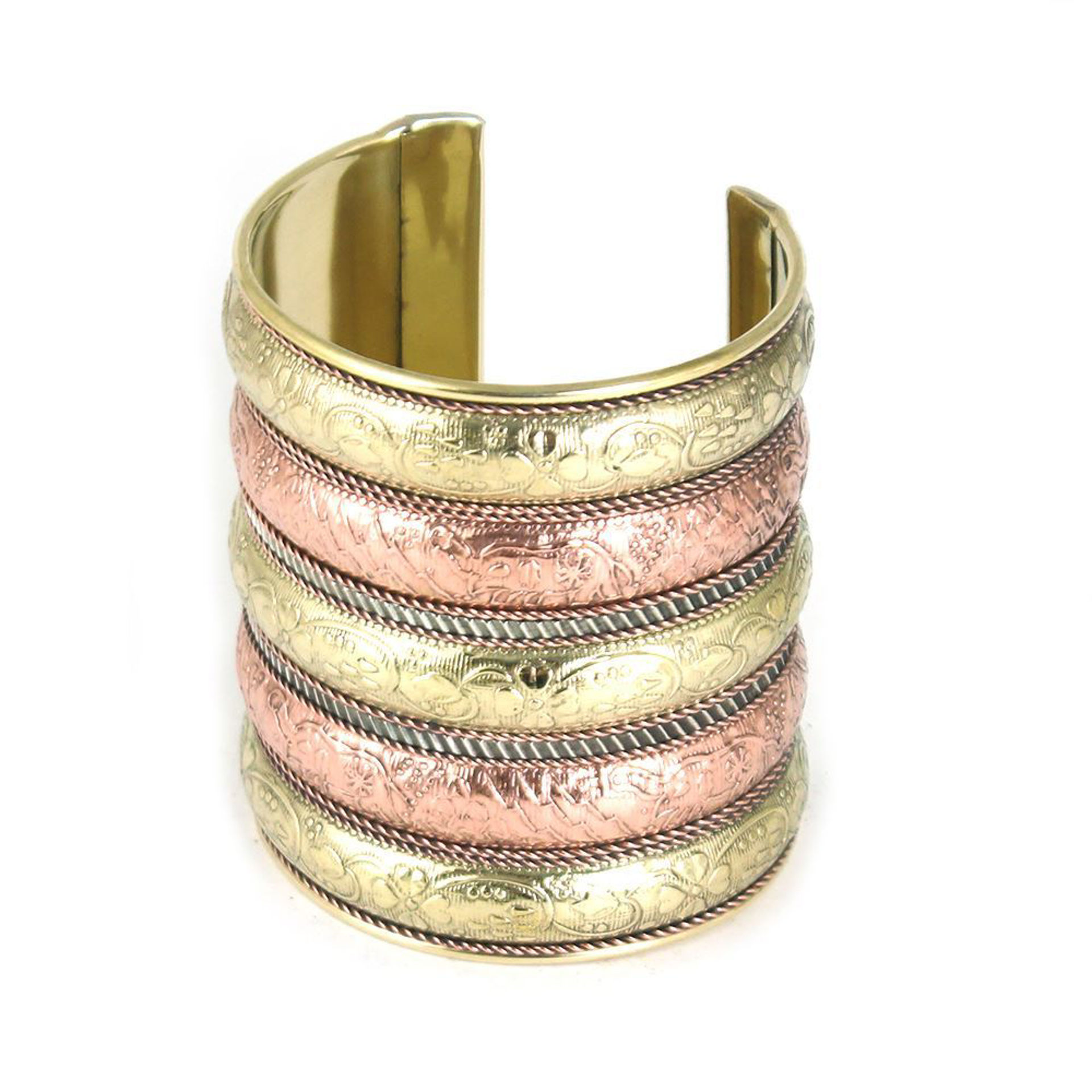 Picture of Elephants On Parade Cuff: Copper/Brass