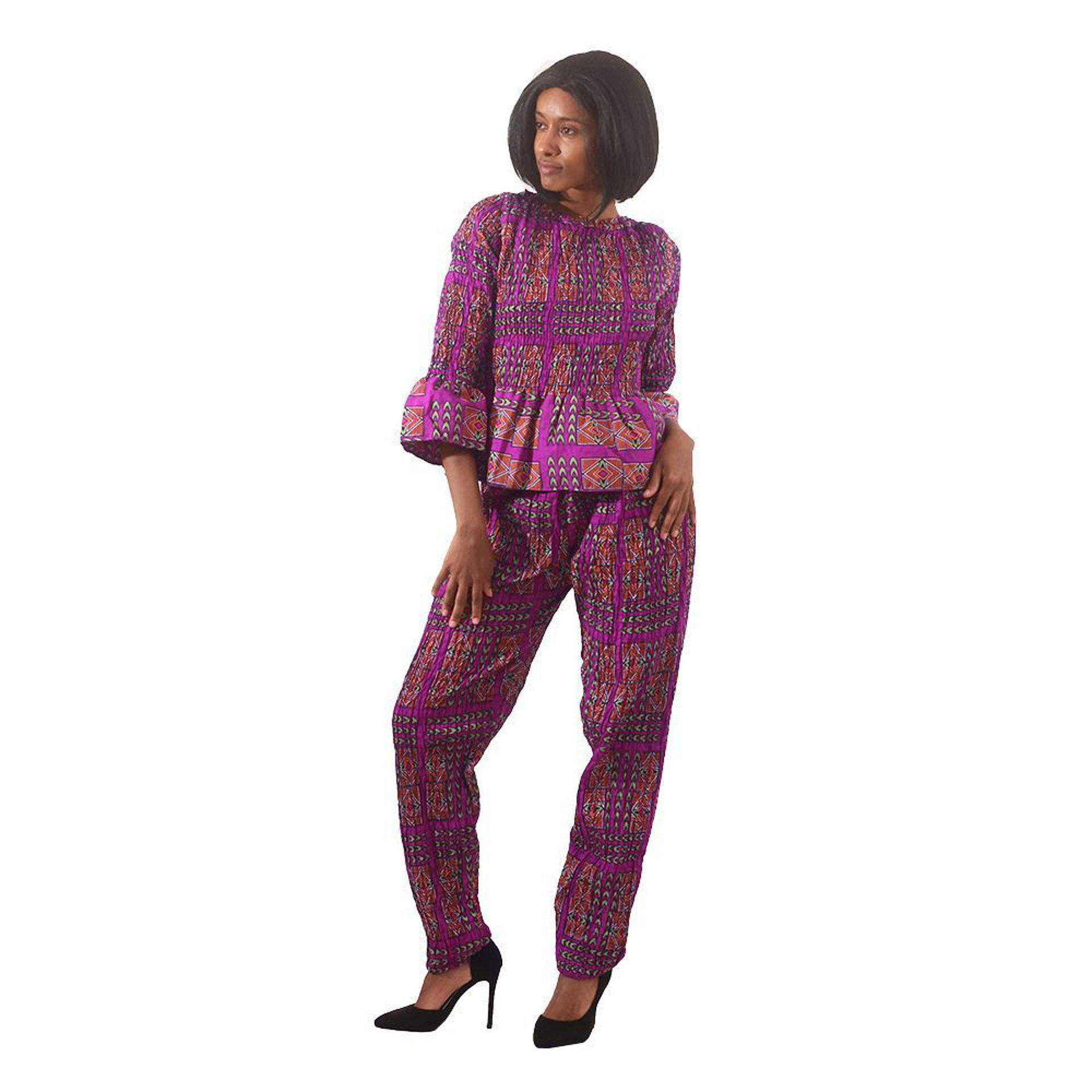 Picture of Purple Afrocentric Pant Set