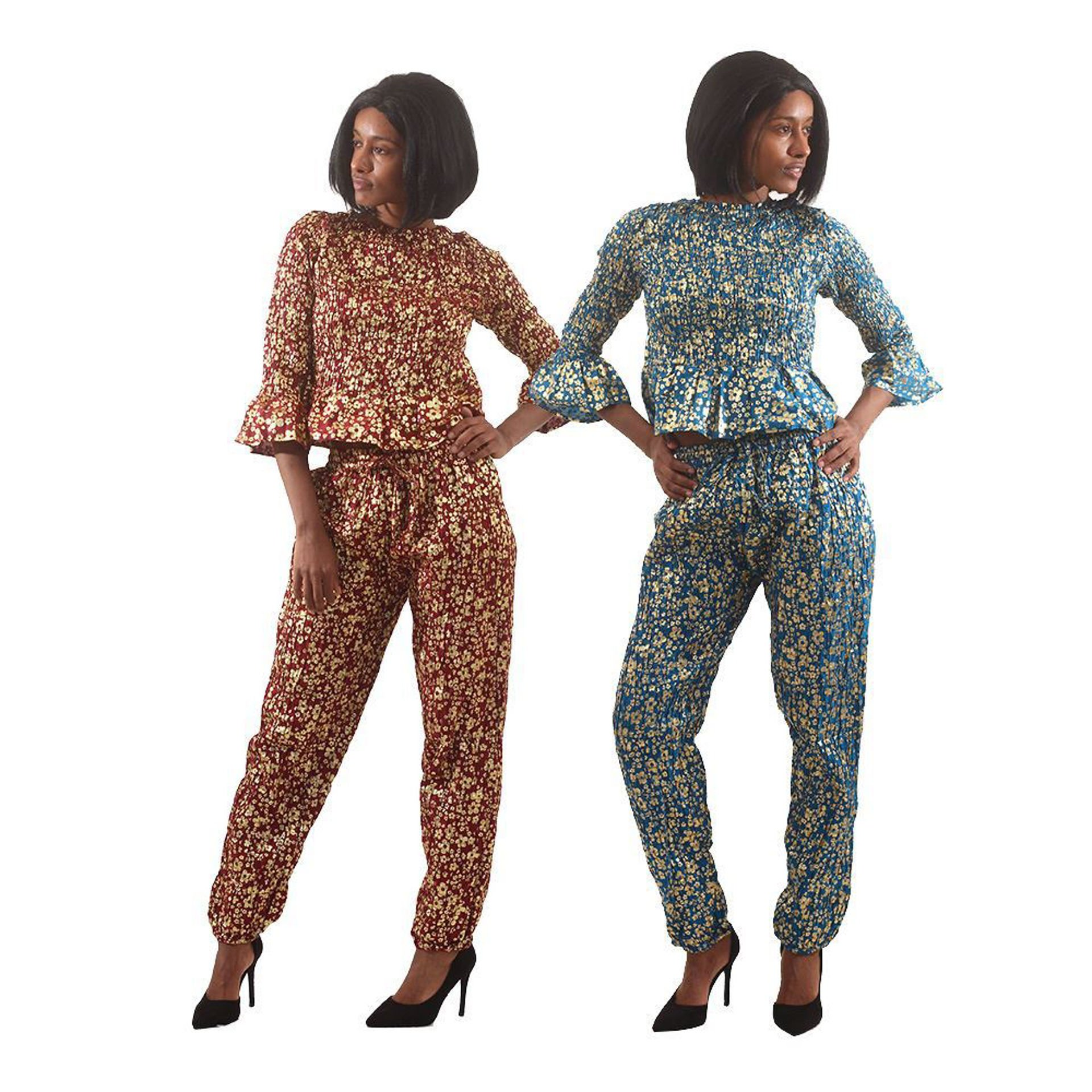 Picture of Golden Flower Pant Set